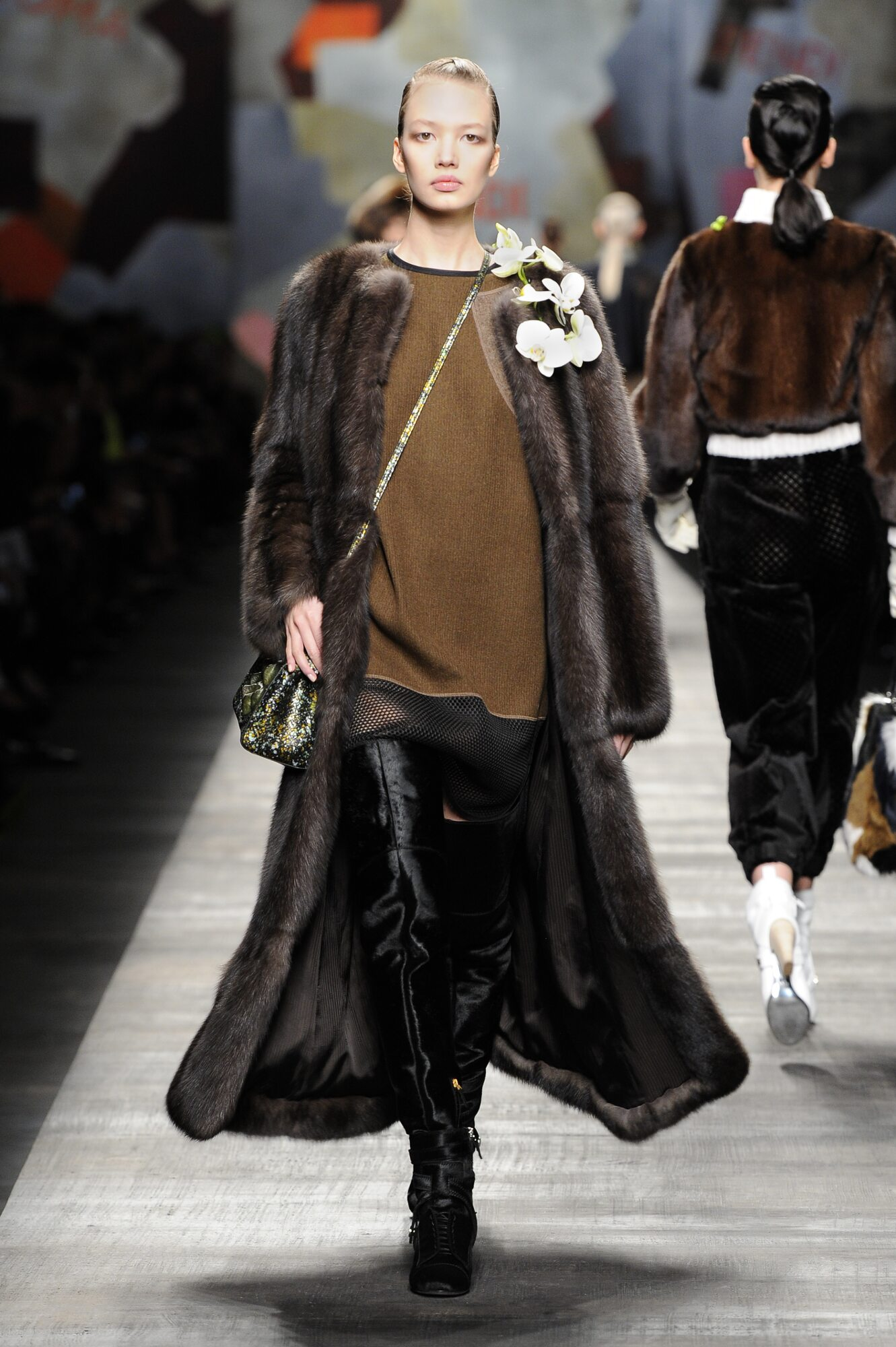 Fashion Woman Model Fendi Catwalk