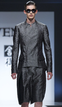 JI WENBO SPRING SUMMER 2014 MEN'S COLLECTION – MILANO FASHION WEEK
