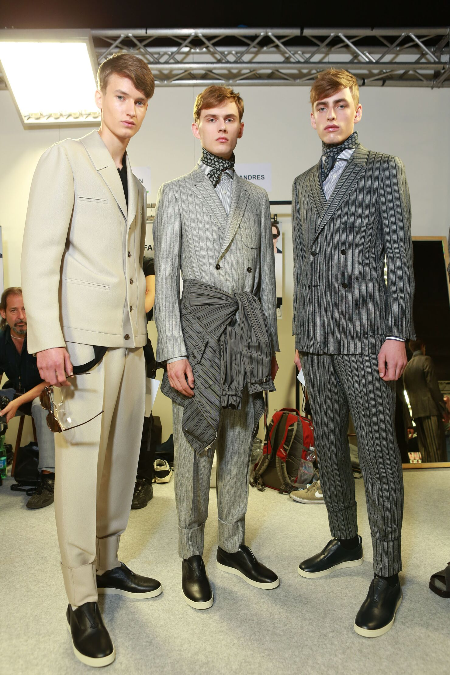 Backstage Ermenegildo Zegna Couture Men Models Spring 2015
