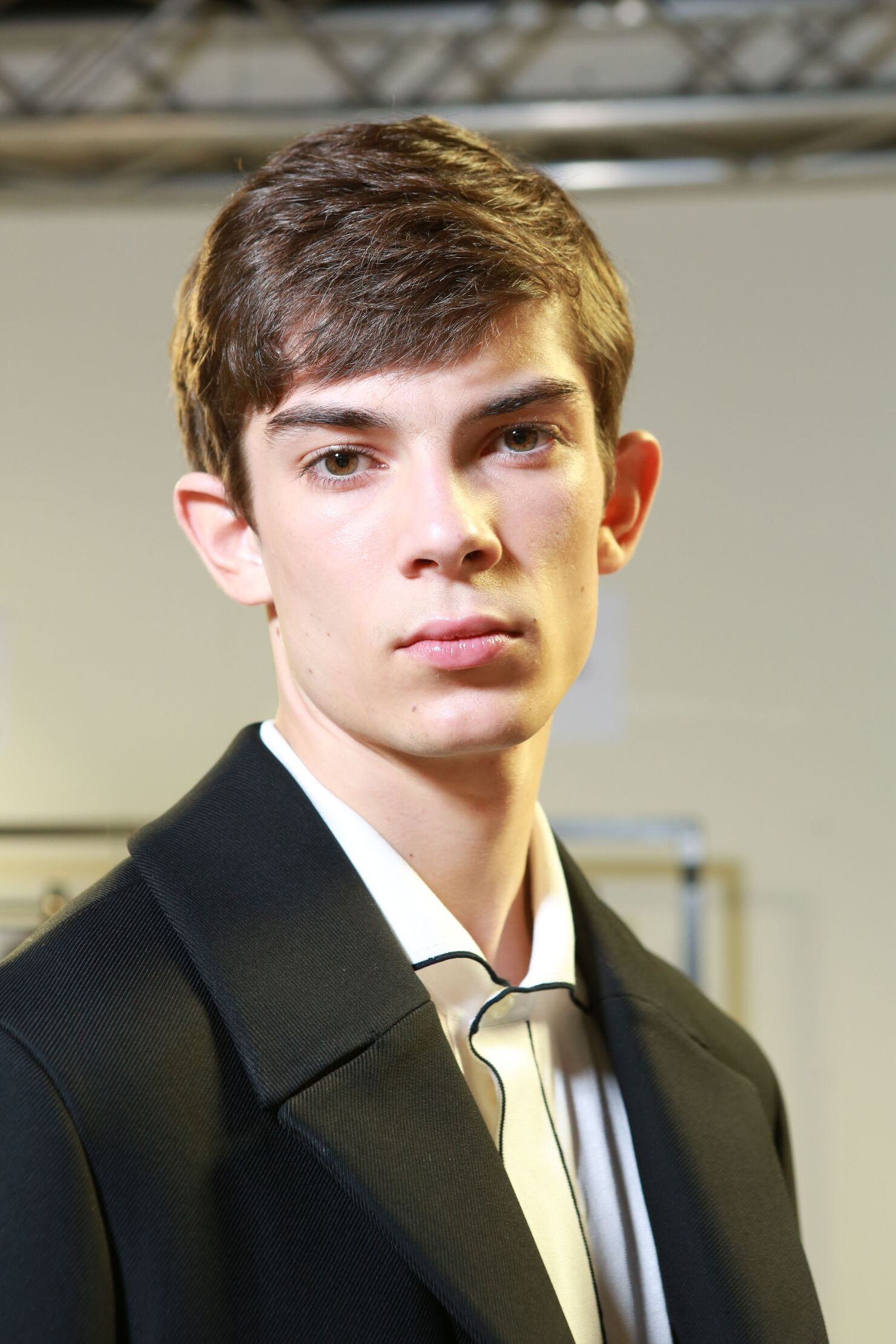 Backstage Ermenegildo Zegna Fahion Model