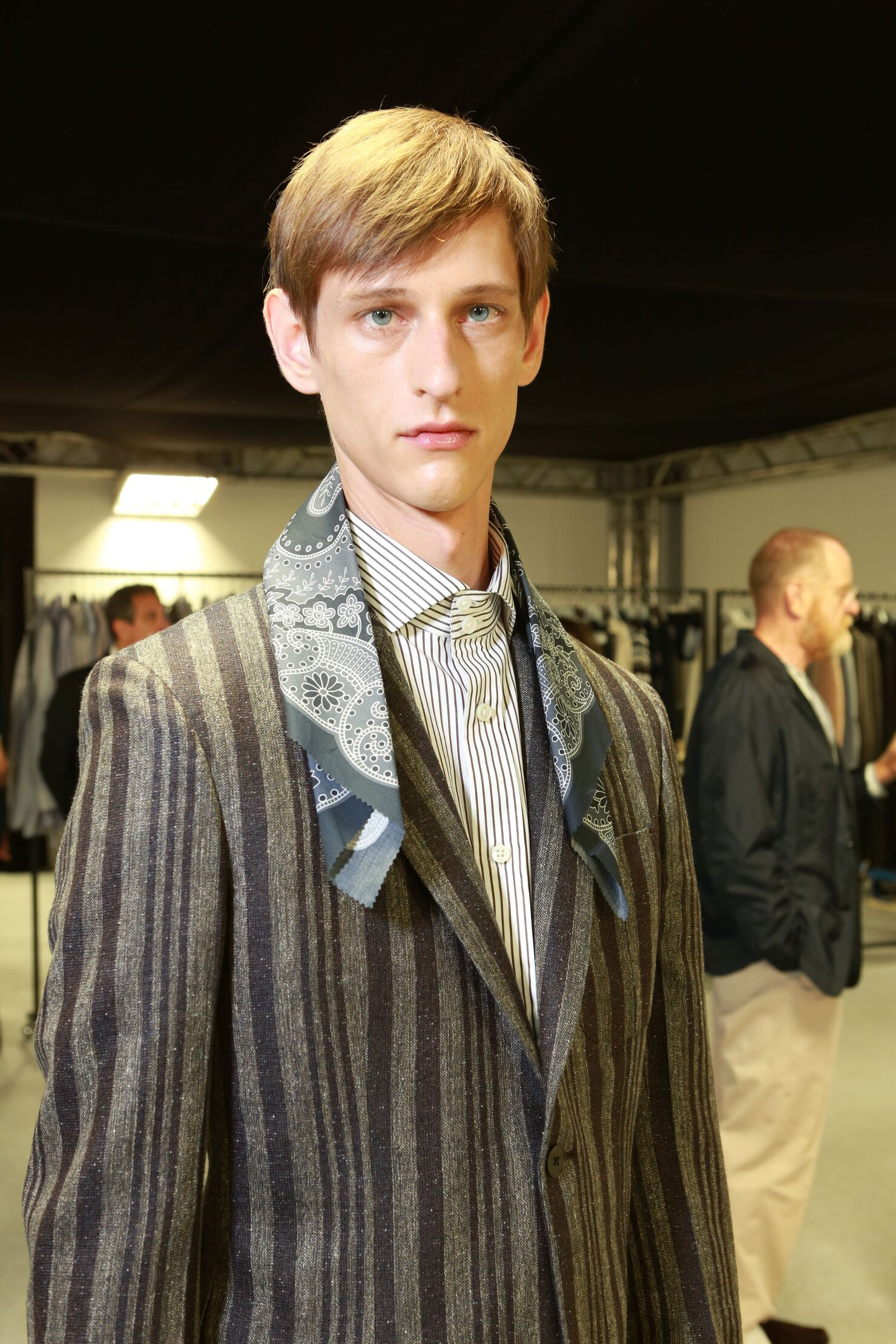 Backstage Fashion Man Model Ermenegildo Zegna Couture