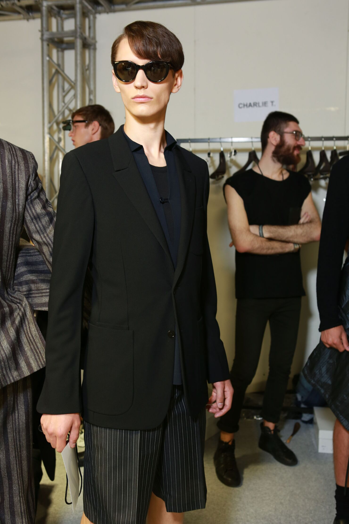 Backstage Man Ermenegildo Zegna Couture Summer 2015