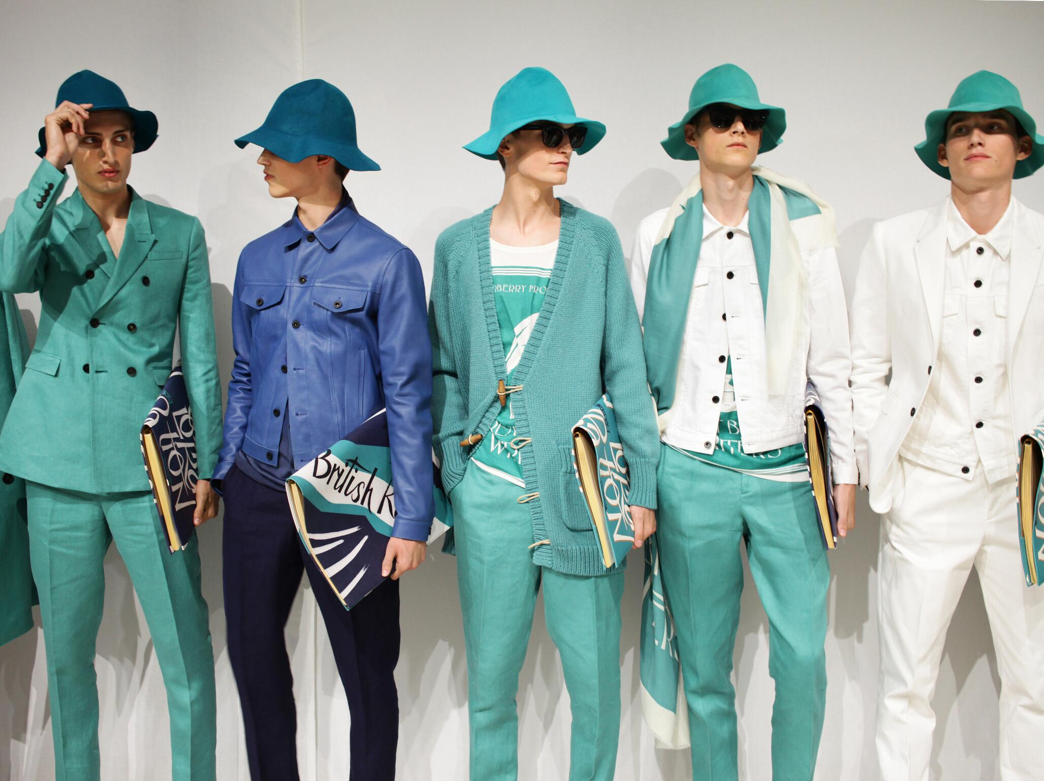 Backstage Models Fashion Menswear Burberry Prorsum
