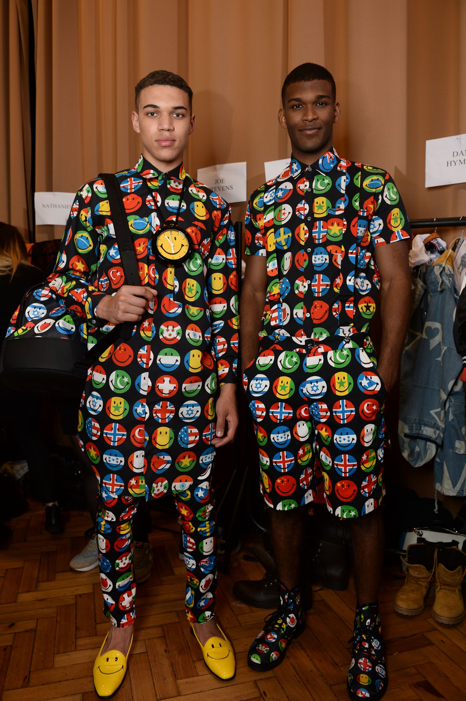 Backstage Moschino Fashion Models