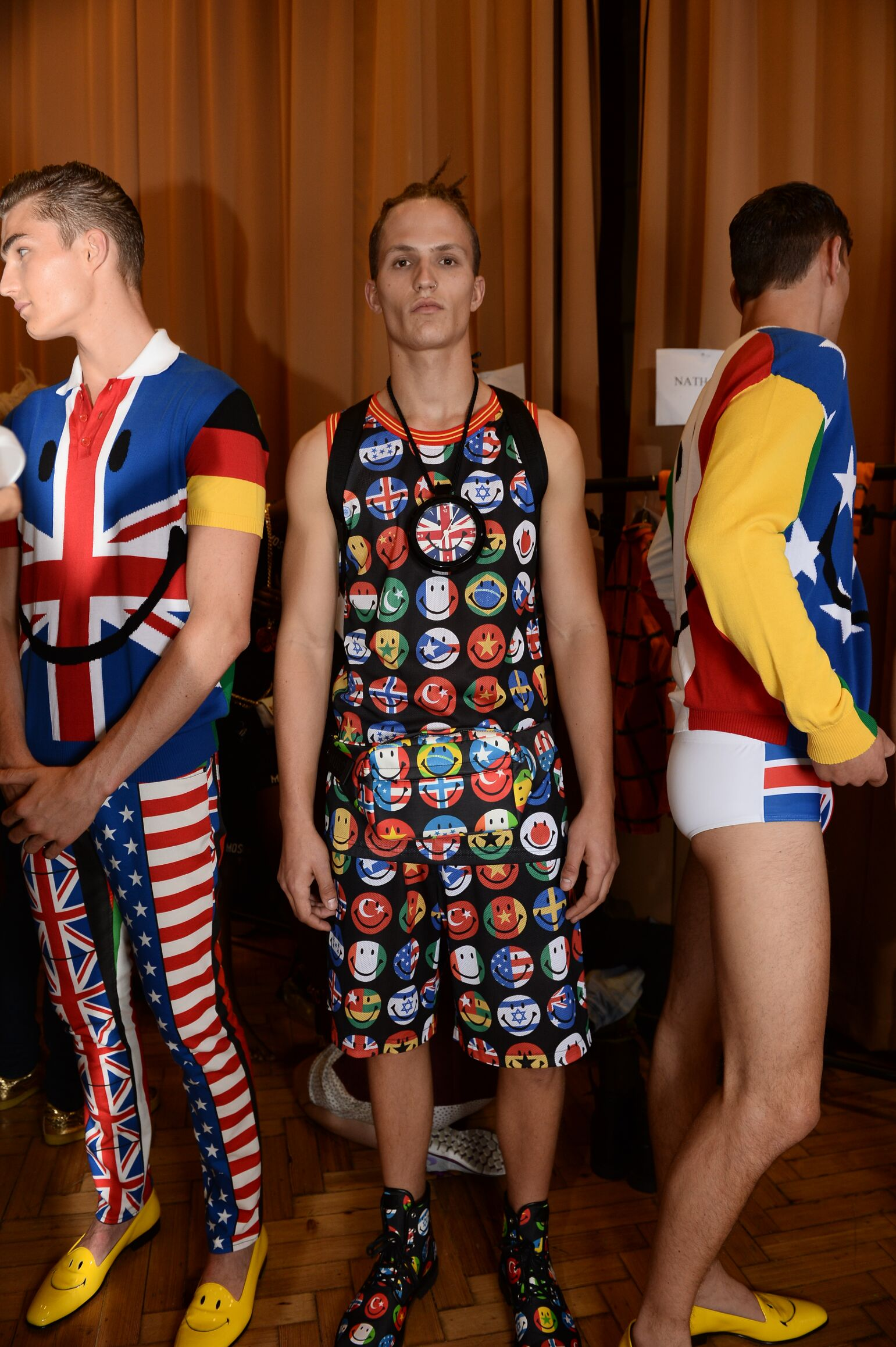 Backstage Moschino Man 2014