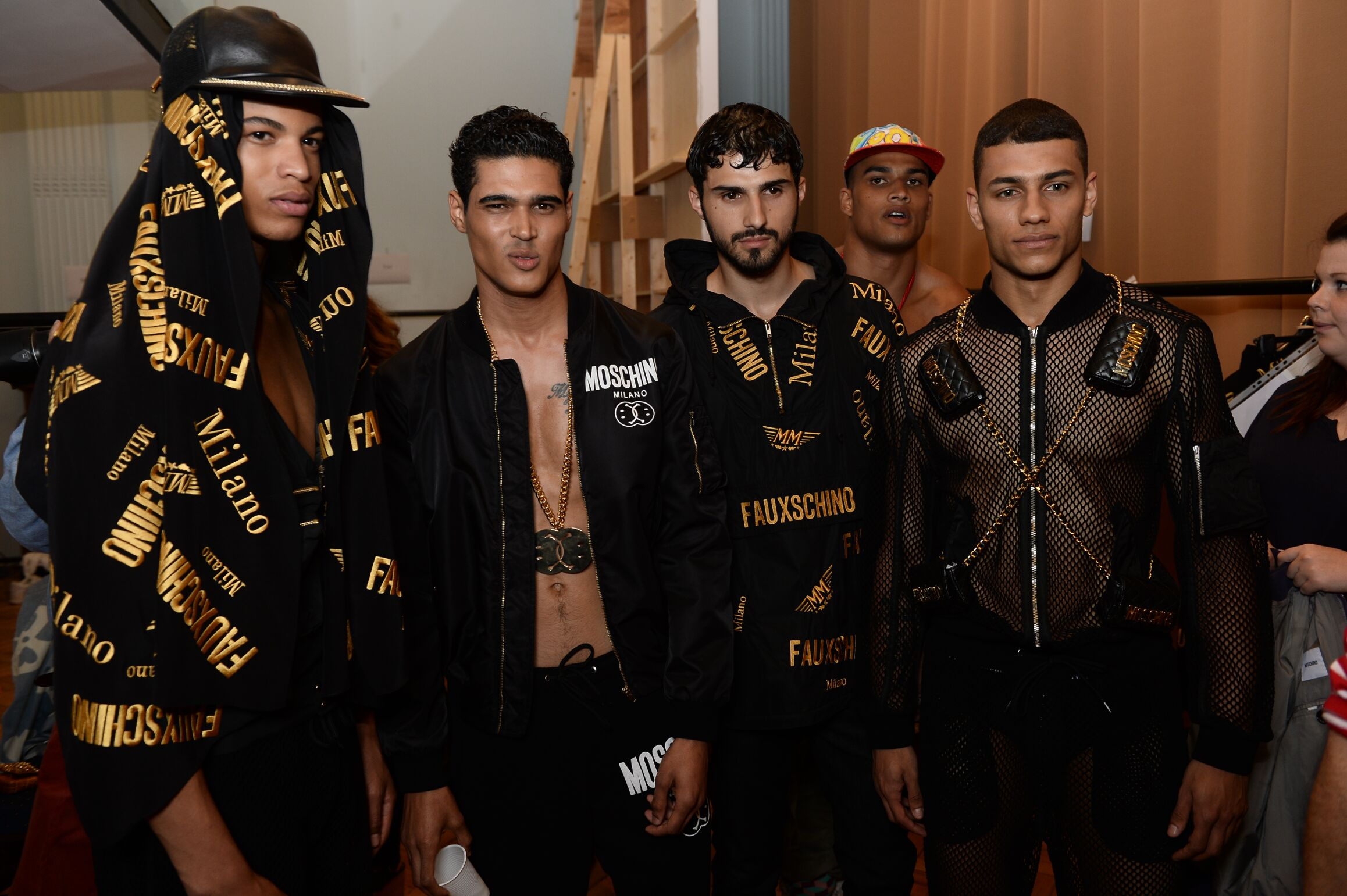 Backstage Moschino Men Models
