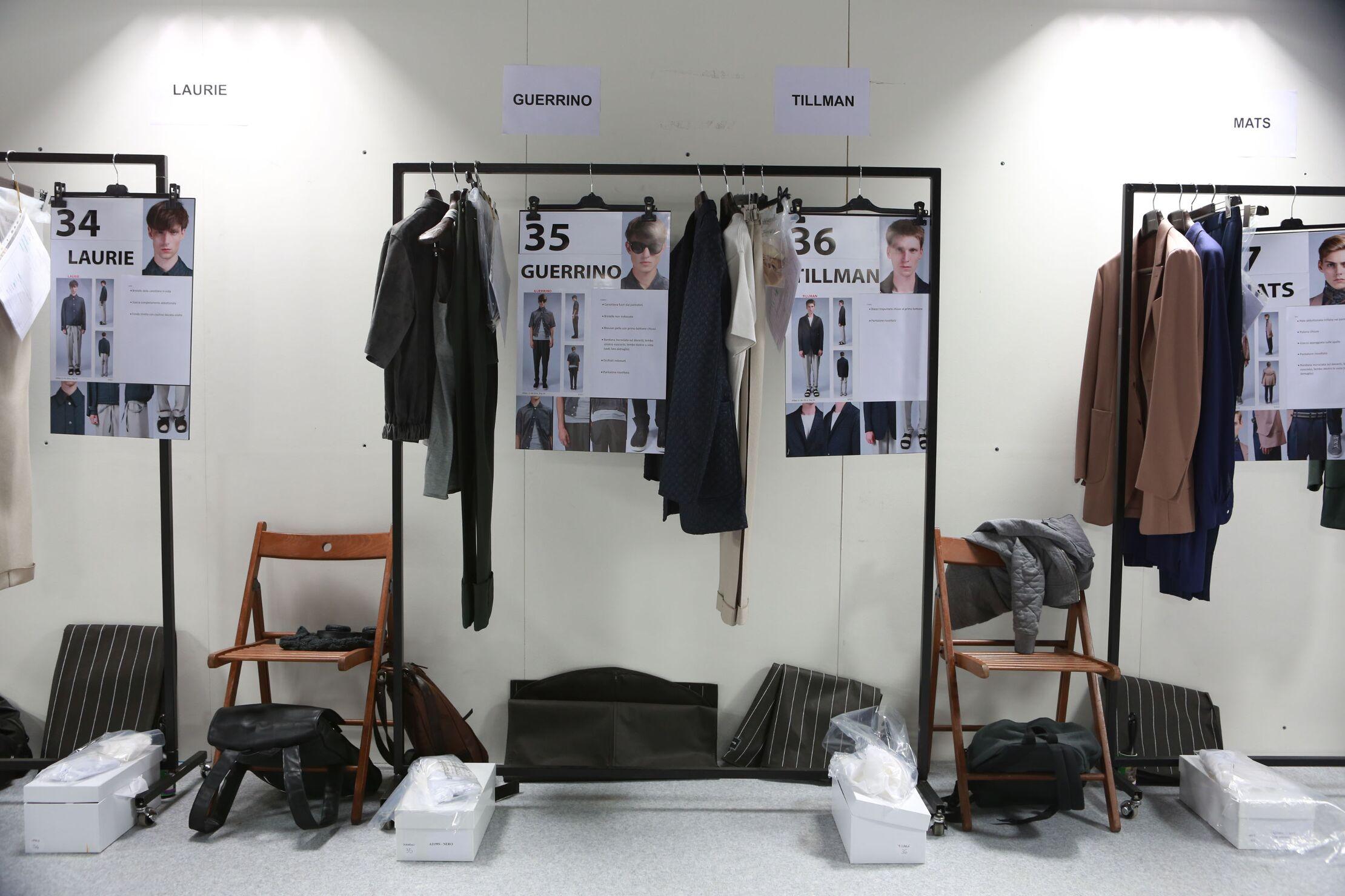 Ermenegildo Zegna Couture Backstage 2014