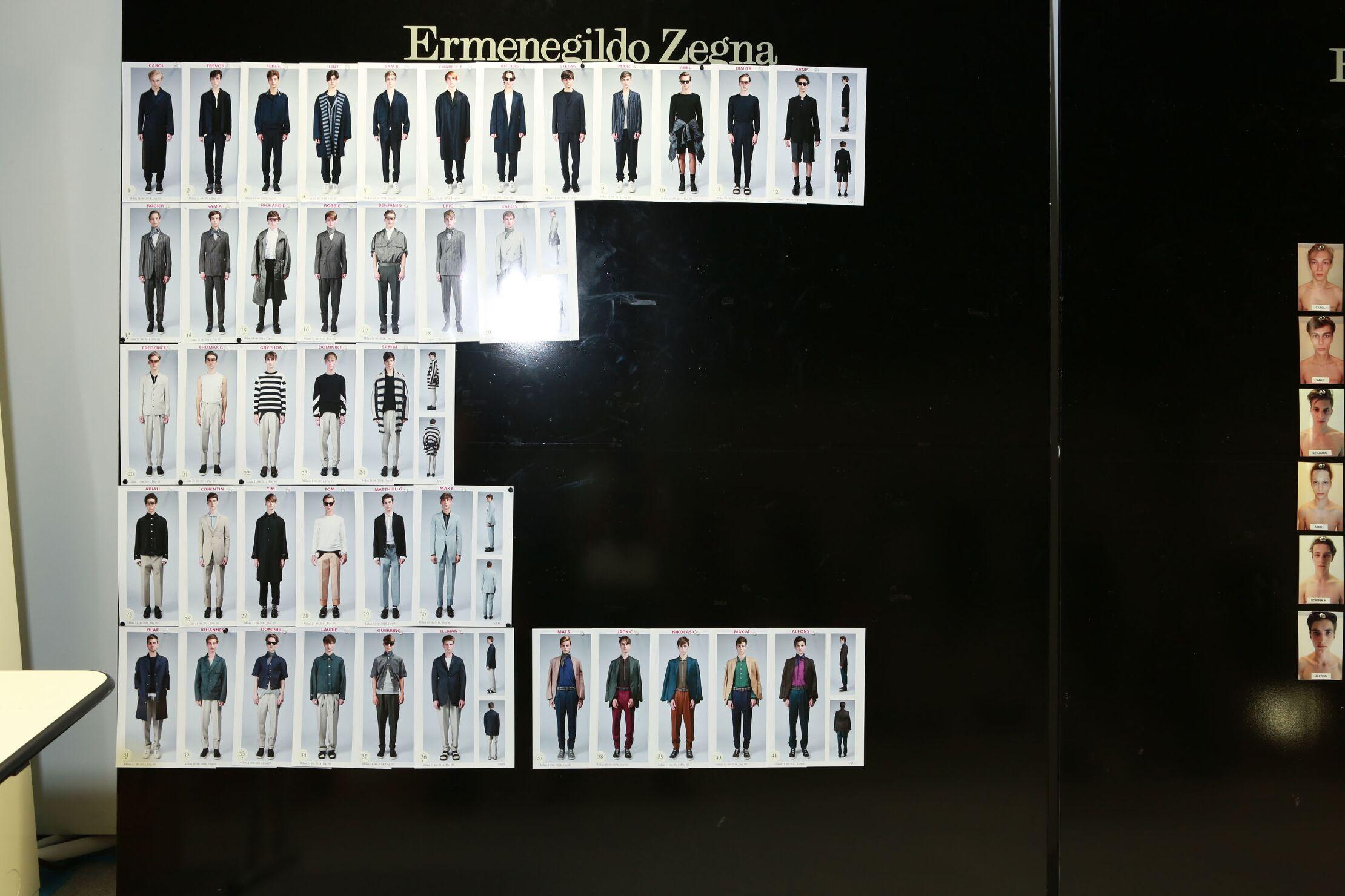 Ermenegildo Zegna Couture Backstage 2015