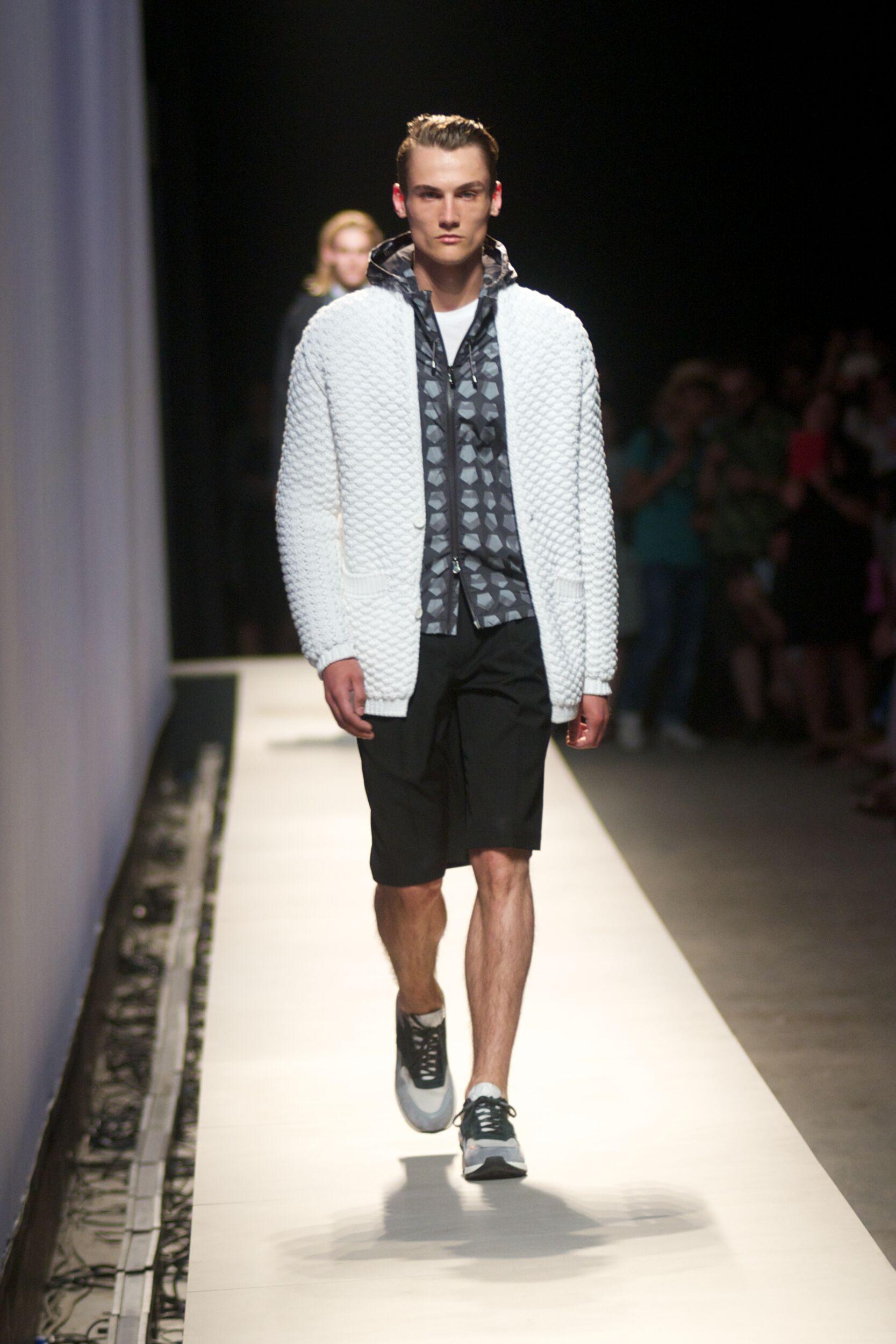 Fashion Man Model Z Zegna Catwalk