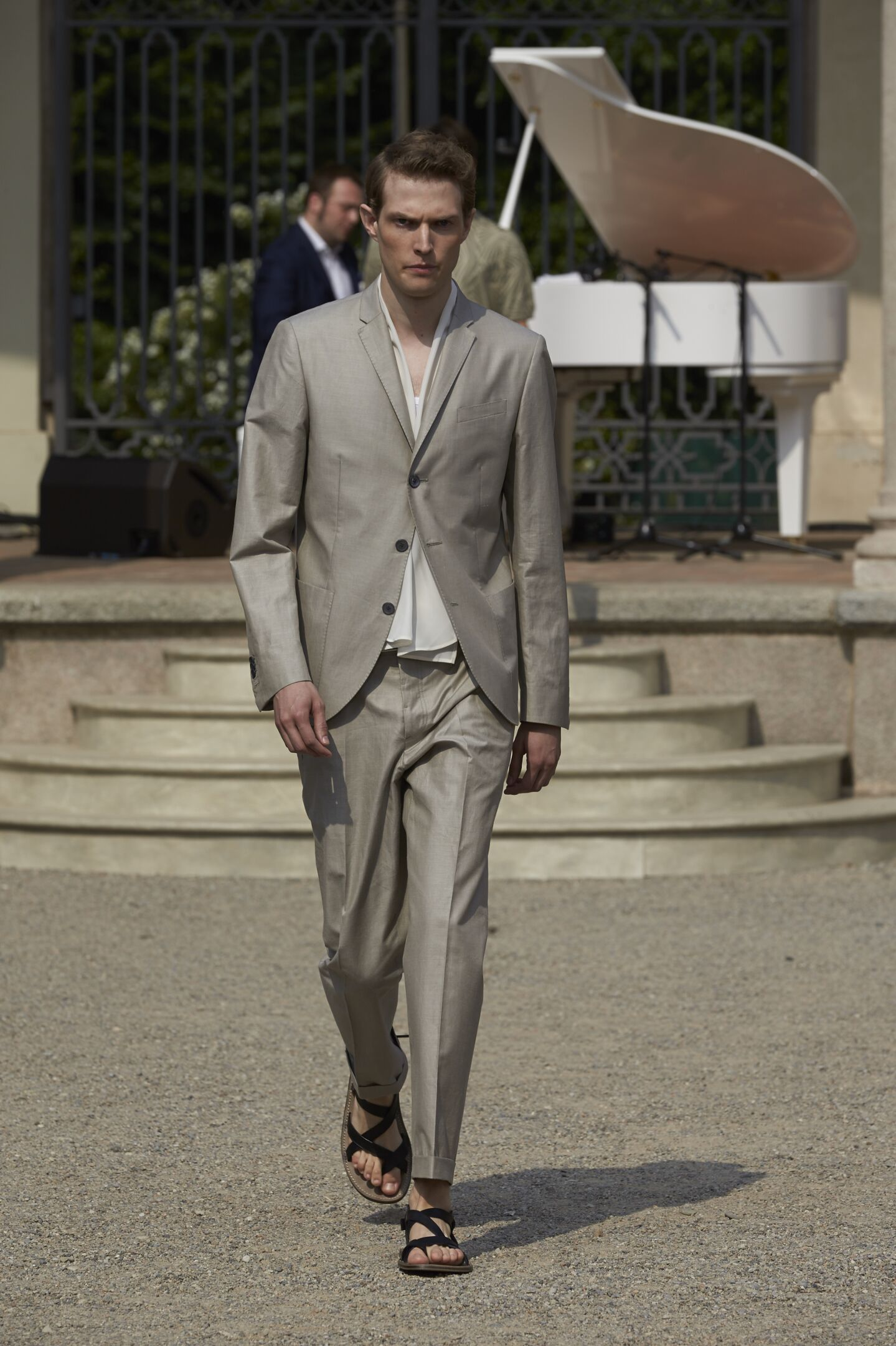 Fashion Model Corneliani Catwalk
