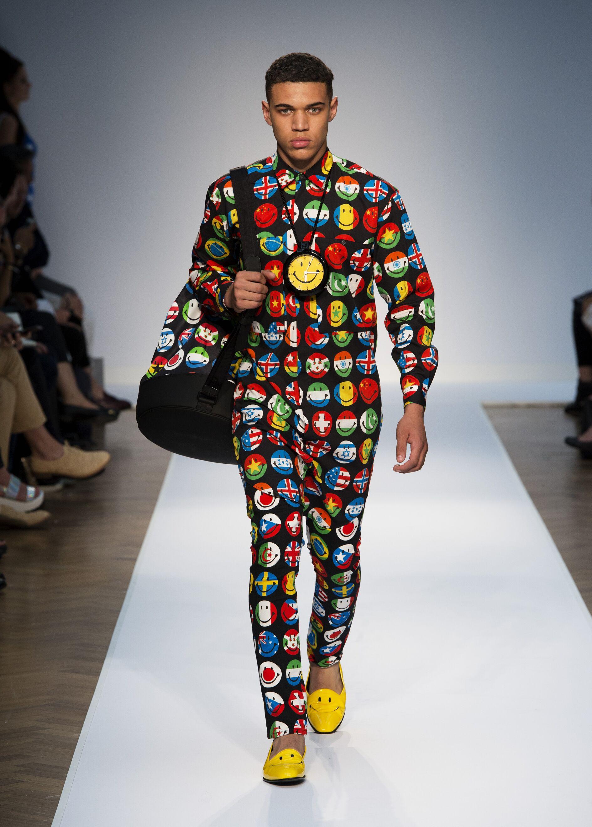 Fashion Model Moschino Catwalk
