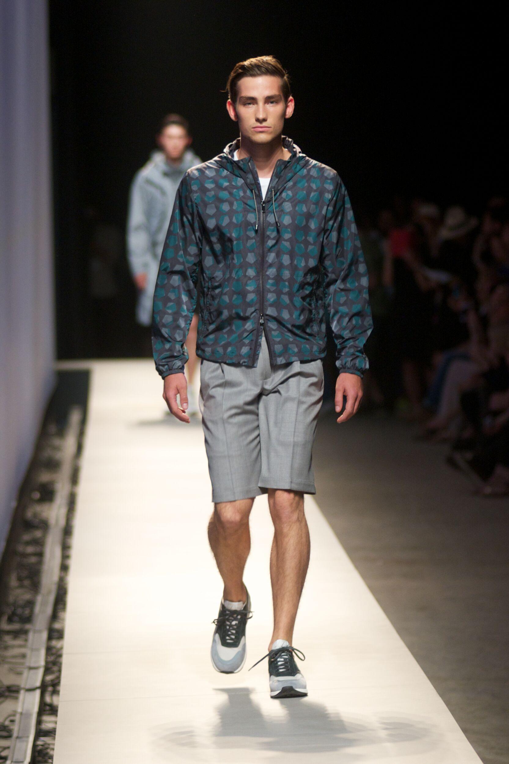 Fashion Model Z Zegna Catwalk