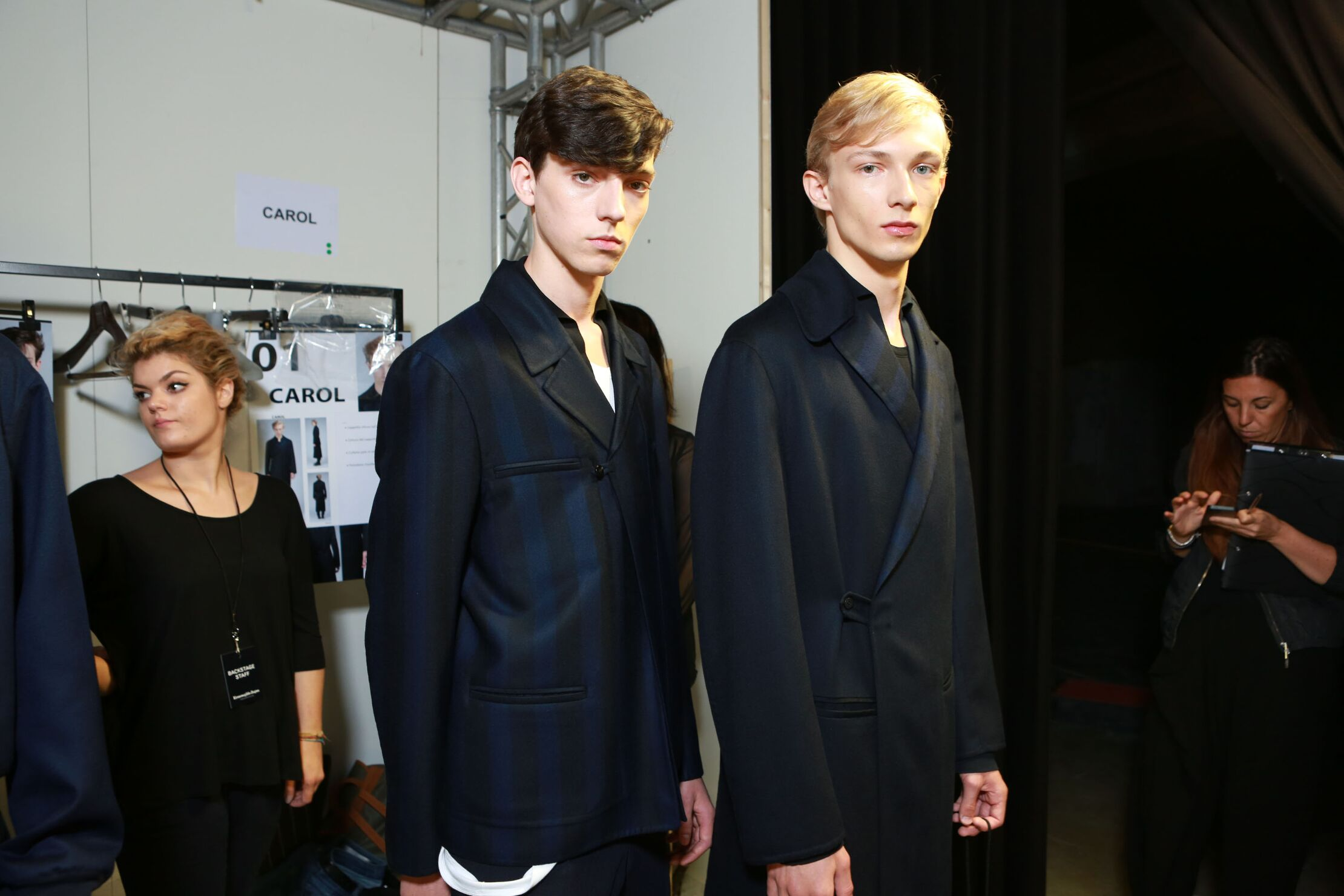 Fashion Models Backstage Ermenegildo Zegna Couture SS 2015