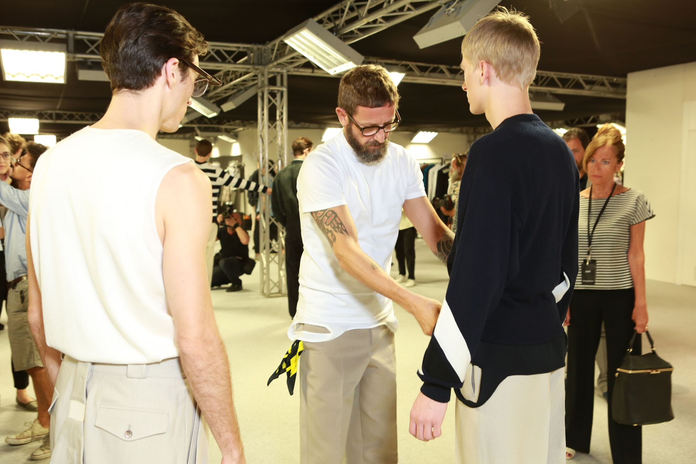 Fashion Models Backstage Ermenegildo Zegna Couture