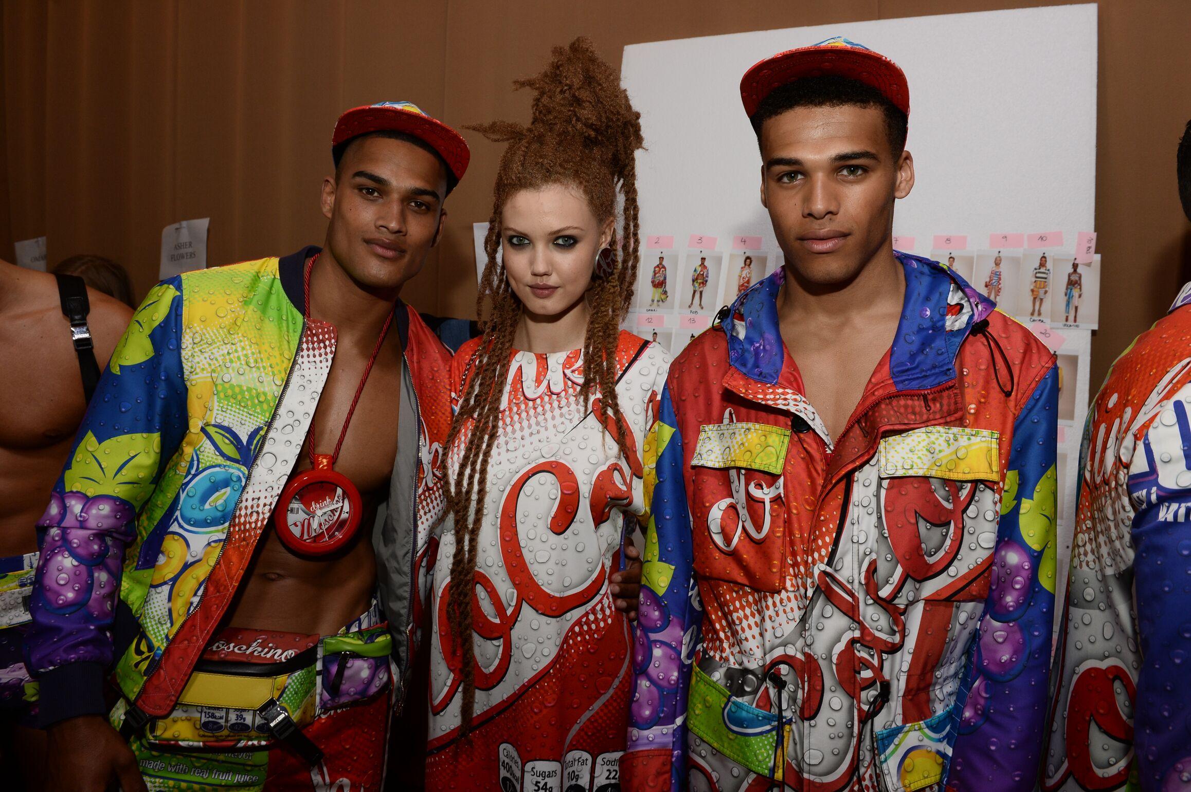 Fashion Models Backstage Moschino