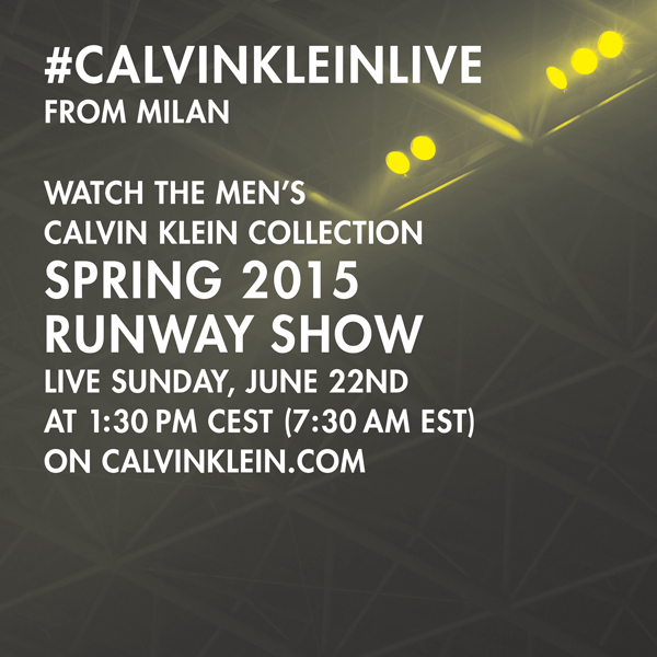 Live Streaming Calvin Klein Collection Spring 2015 Men's