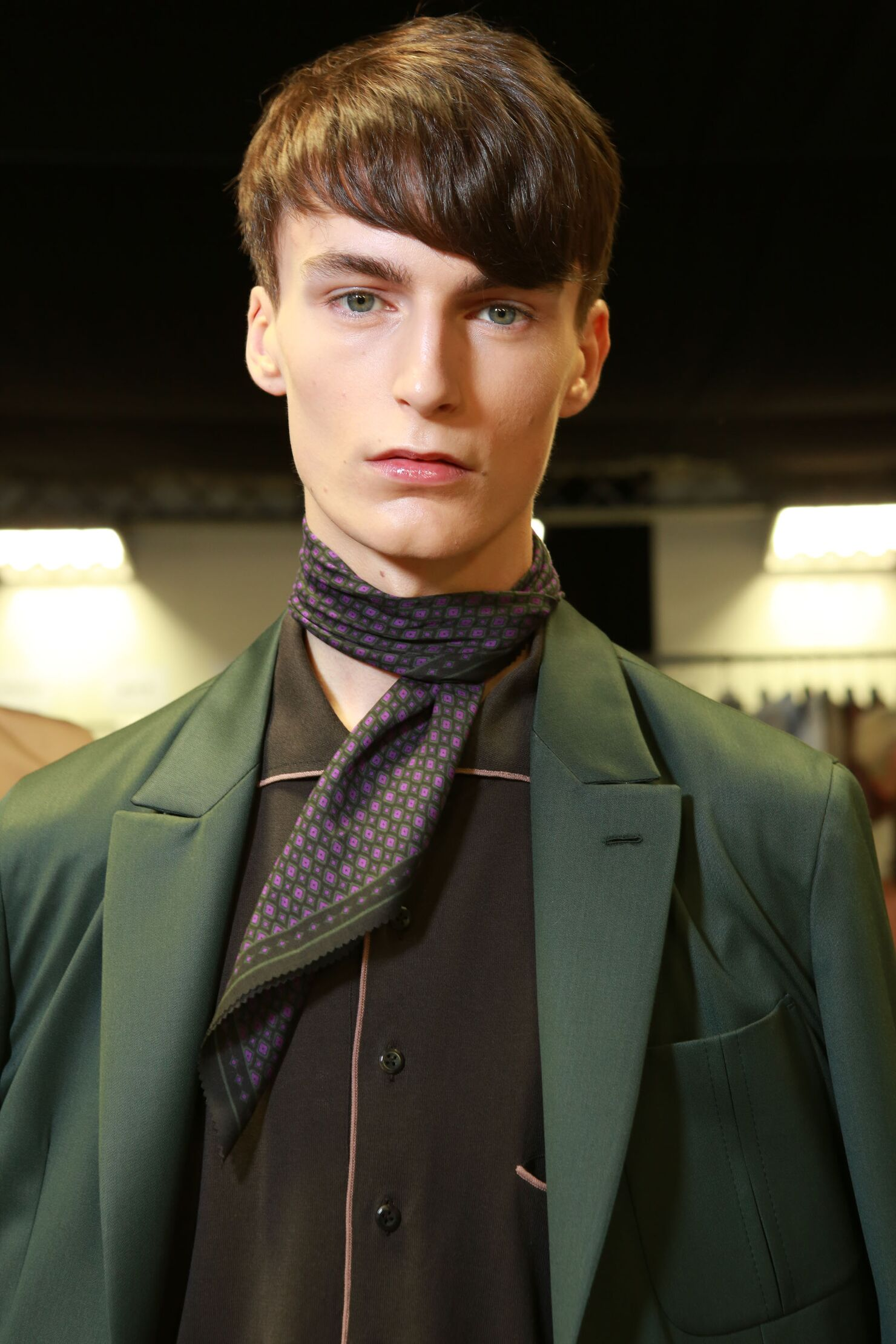 Model Backstage Ermenegildo Zegna Couture