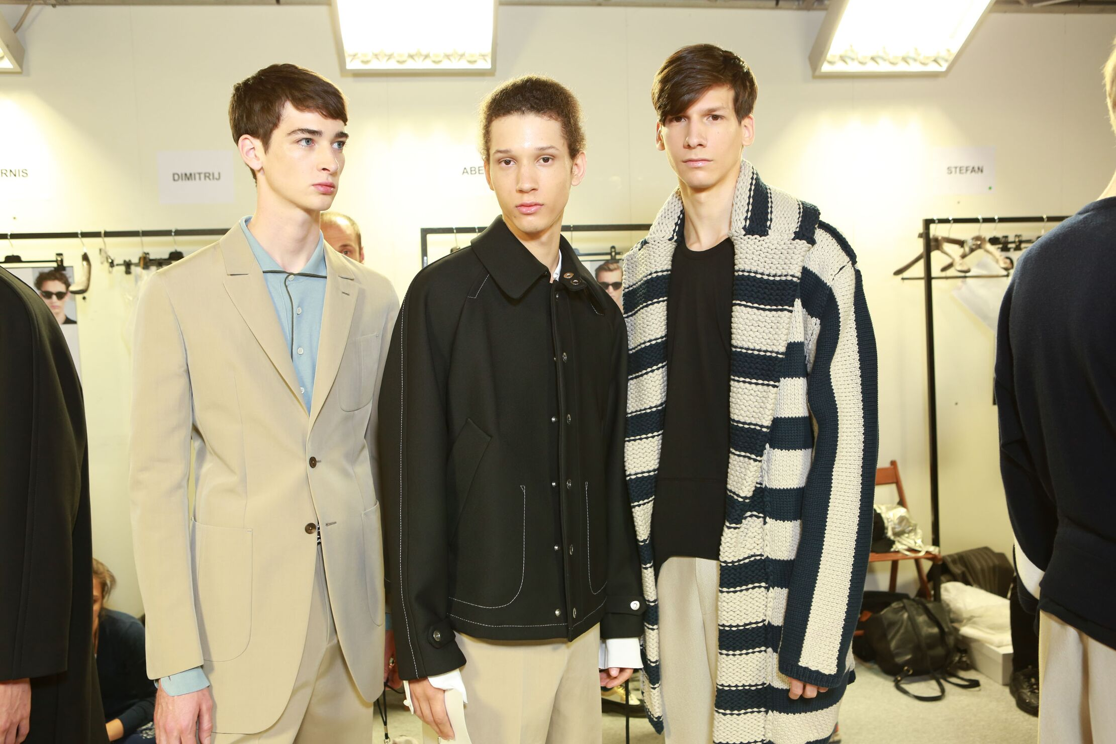 Models Ermenegildo Zegna Couture Backstage Spring Summer 2015