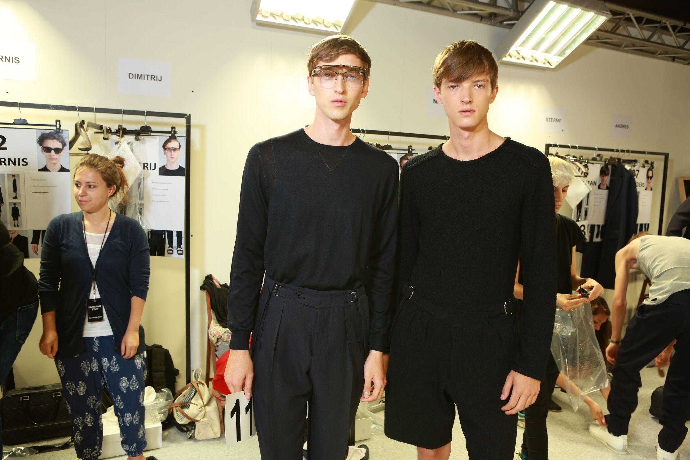 Models Ermenegildo Zegna Couture Backstage
