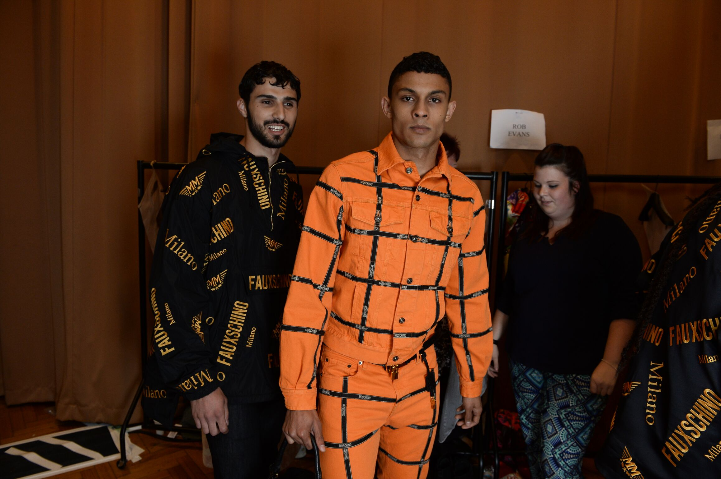 Moschino SS 2015 Menswear Backstage