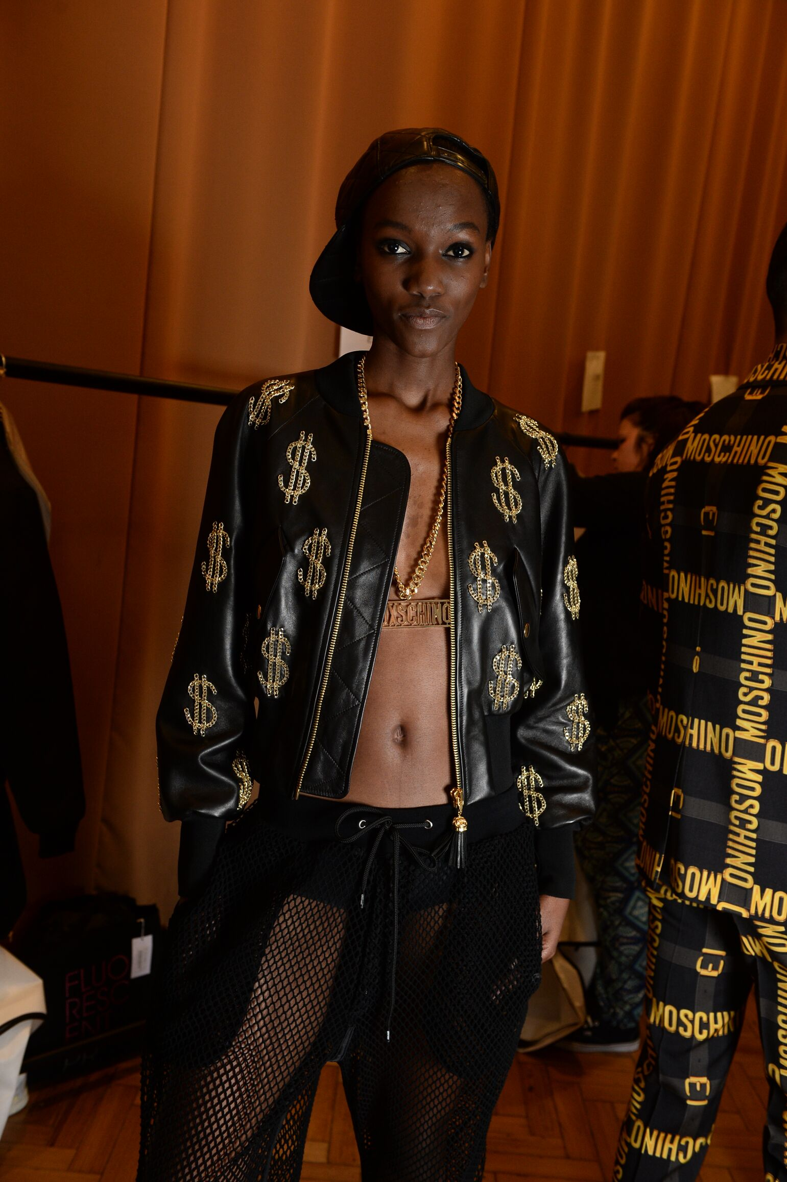 Woman Model Moschino Backstage Spring Summer 2015