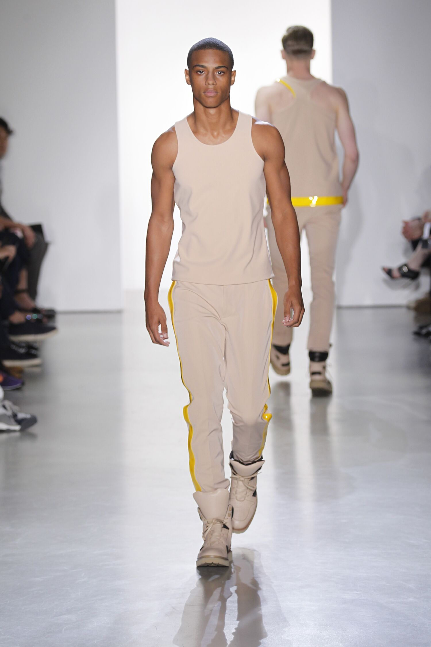 Fashion Man Model Calvin Klein Collection Catwalk