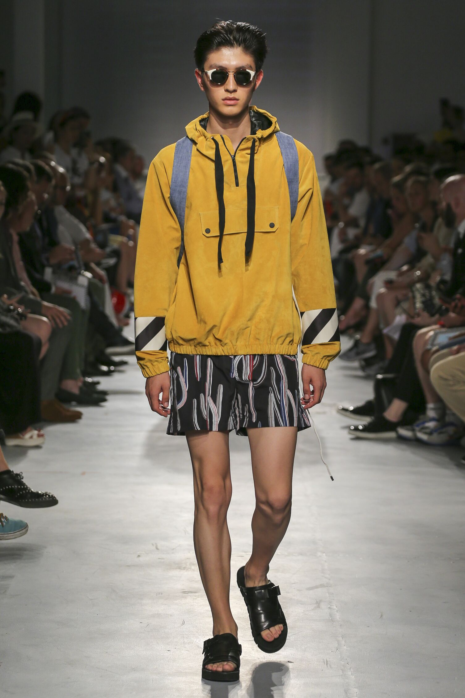 Fashion Man Model Msgm Catwalk