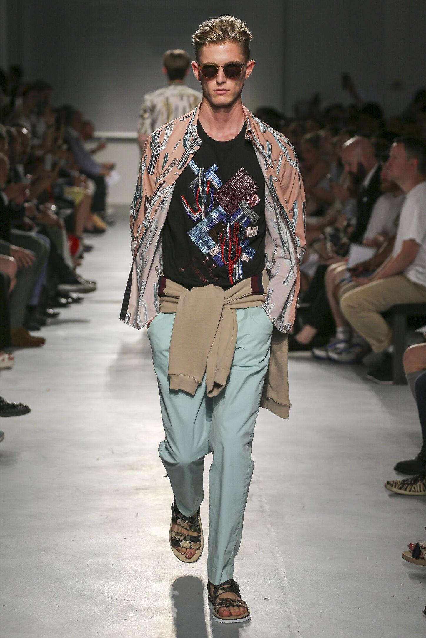 Fashion Model Msgm Catwalk