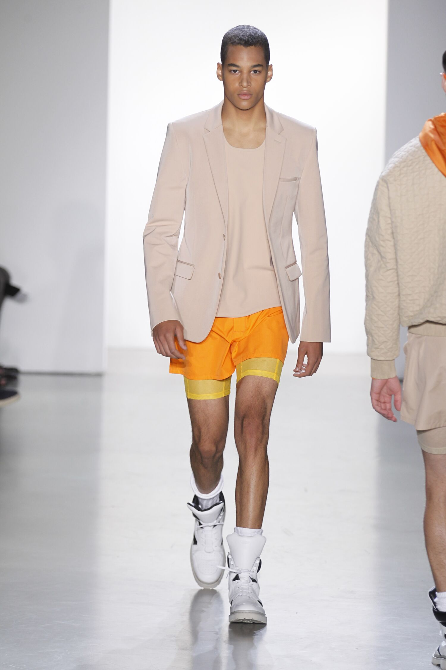 Runway Calvin Klein Collection Spring 2015 Men Milan Fashion Week