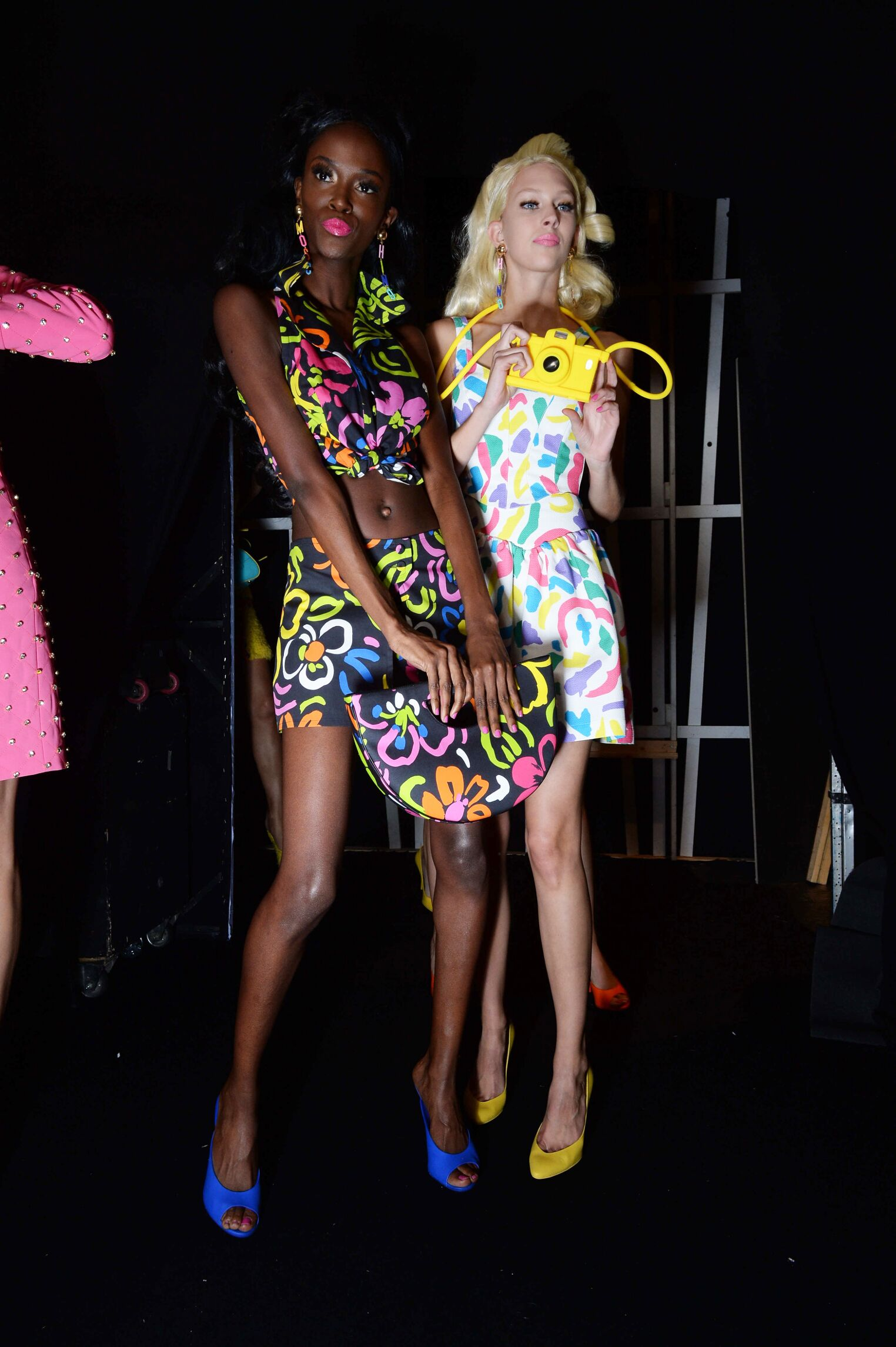 2015 Fashion Models Backstage Moschino