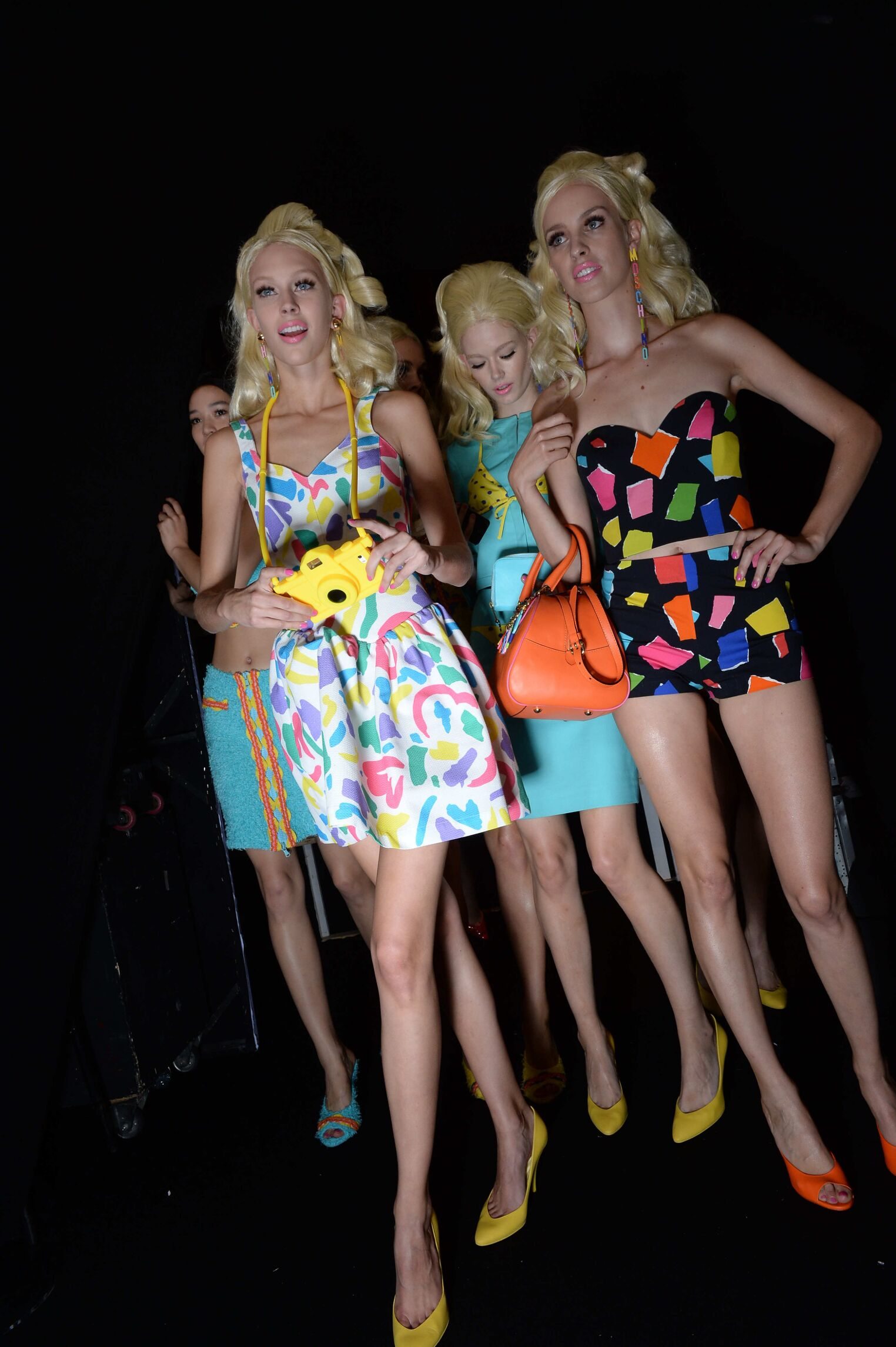 Backstage 2015 SS Fashion Models Moschino
