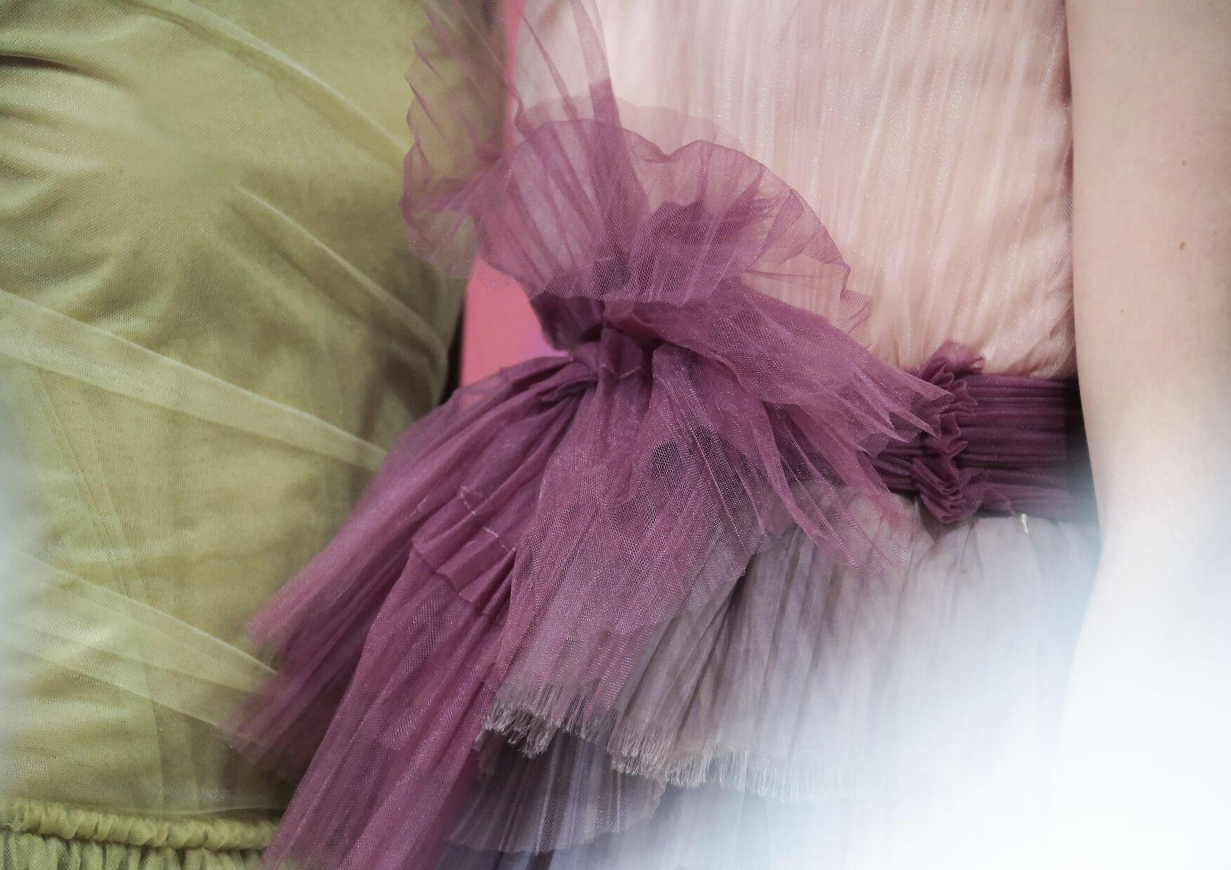 Backstage Burberry Prorsum Dress Detail