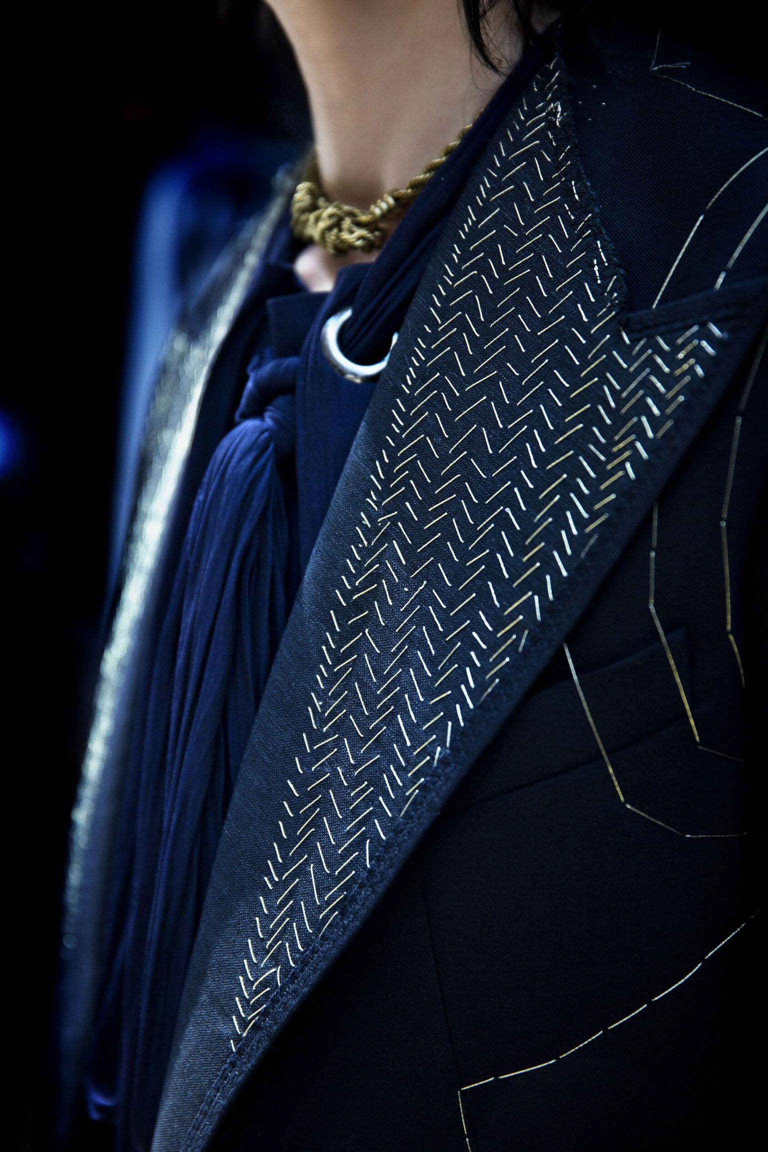 Backstage Lanvin Detail
