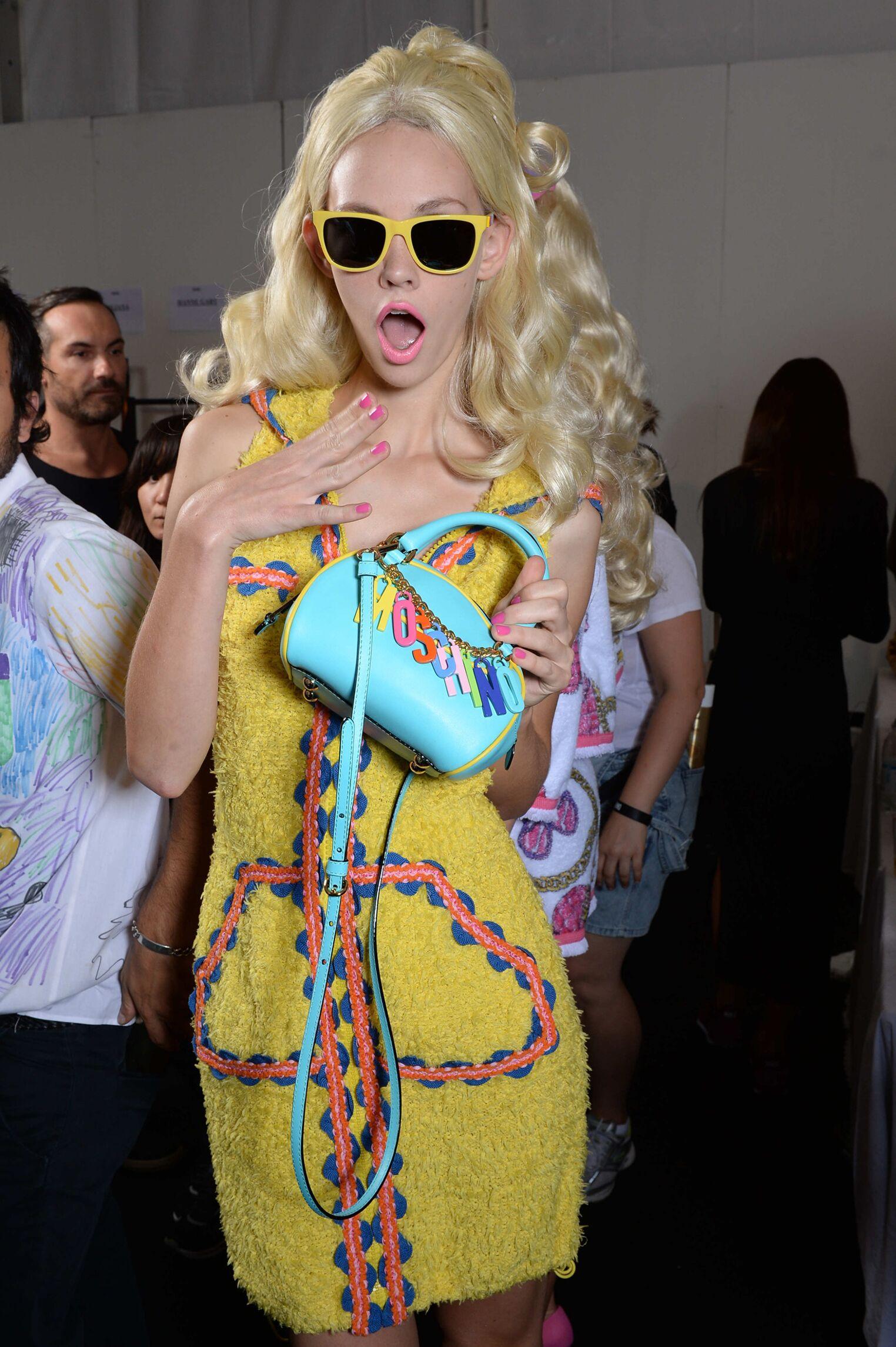 Backstage SS 2015 Fashion Woman Model Moschino