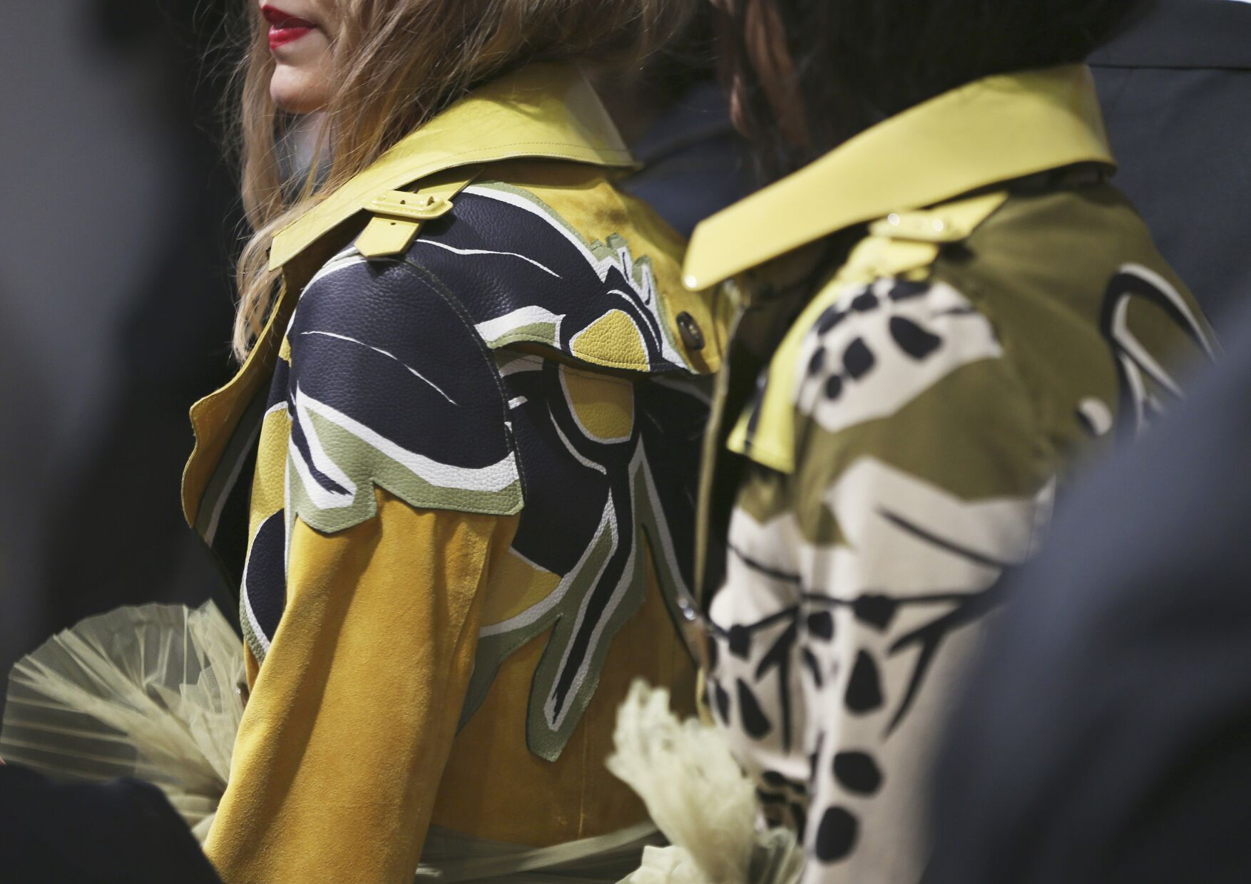 Burberry Prorsum Backstage Fashion Detail