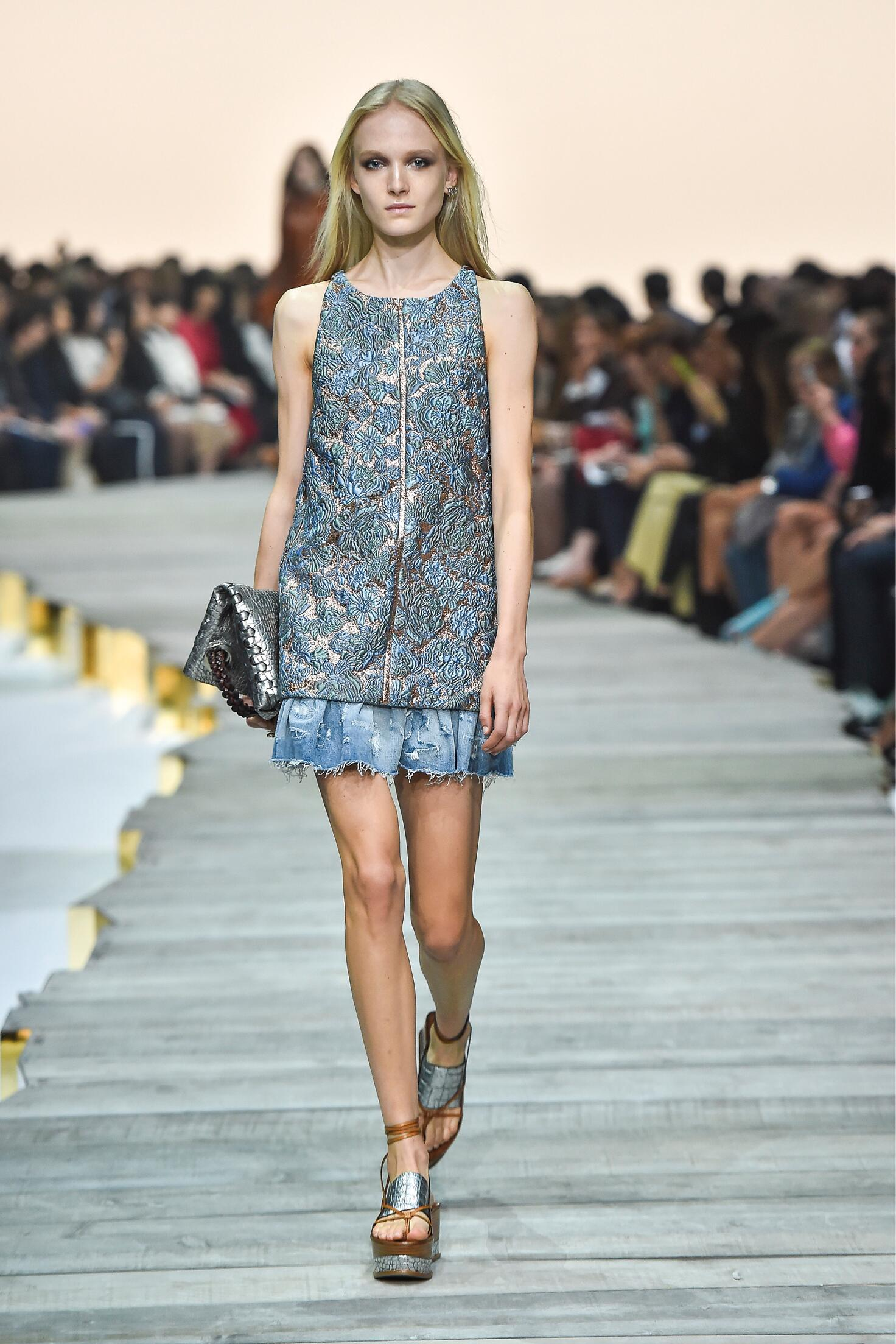 Catwalk Roberto Cavalli Woman Fashion Show Summer 2015