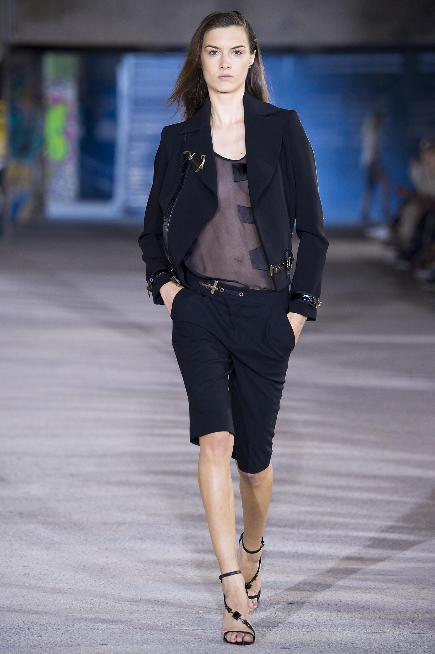 Fashion Model Anthony Vaccarello Catwalk