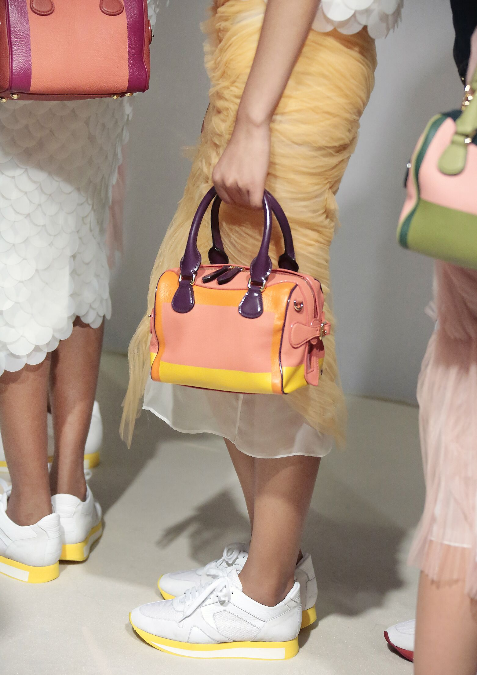 Fashion Model Backstage Burberry Prorsum Bag