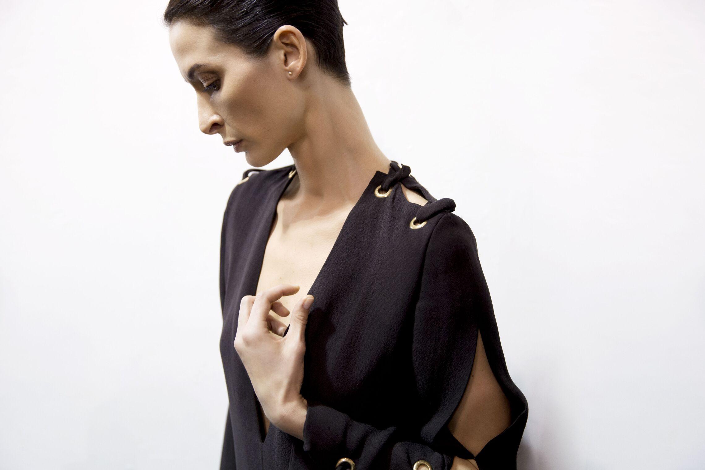 Fashion Model Backstage Lanvin SS 2015