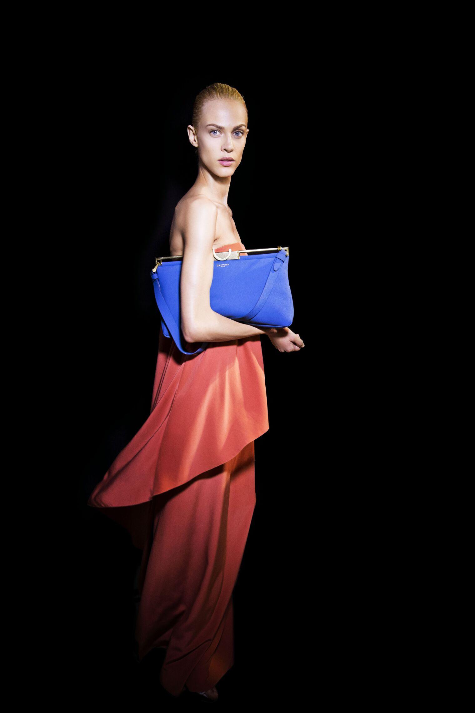 Fashion Model Backstage Lanvin