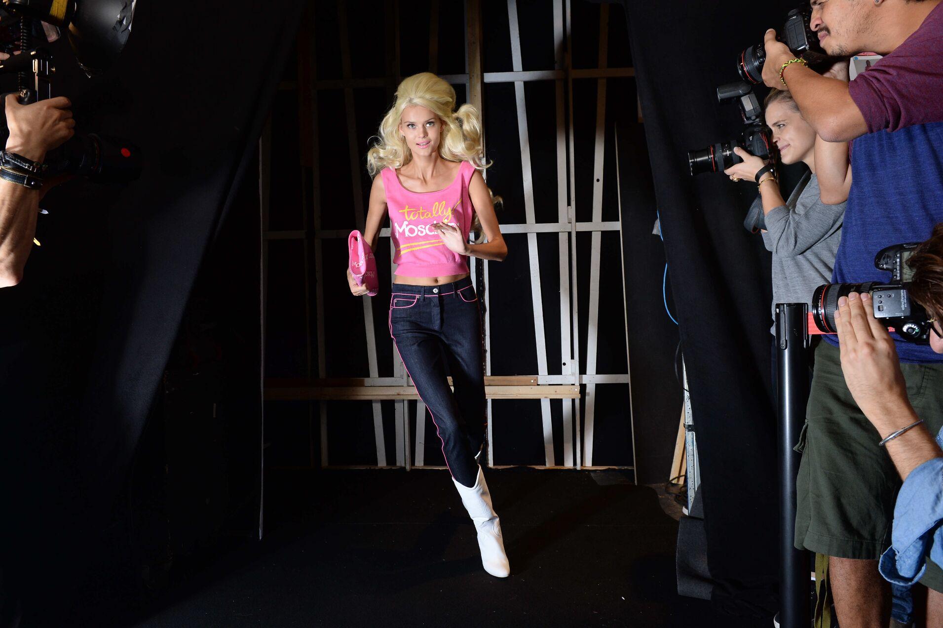 Fashion Model Backstage Moschino SS 2015