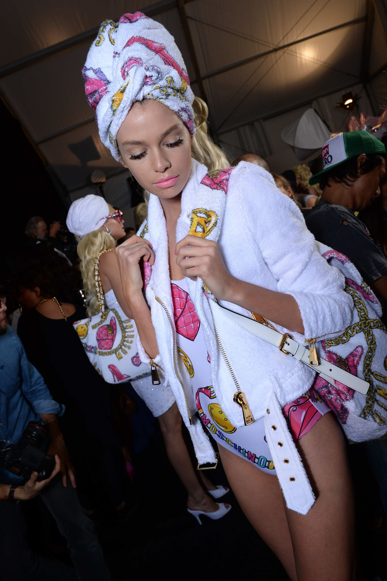 Fashion Model Backstage Moschino