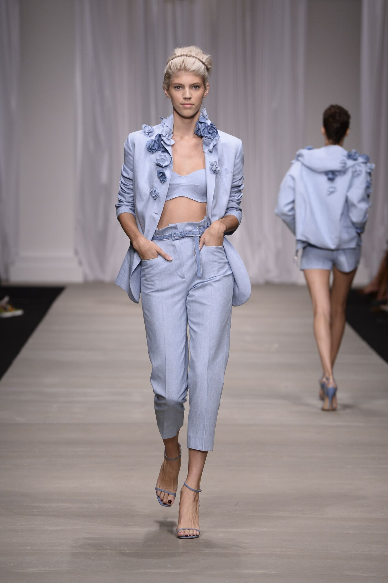 Fashion Model Ermanno Scervino Catwalk