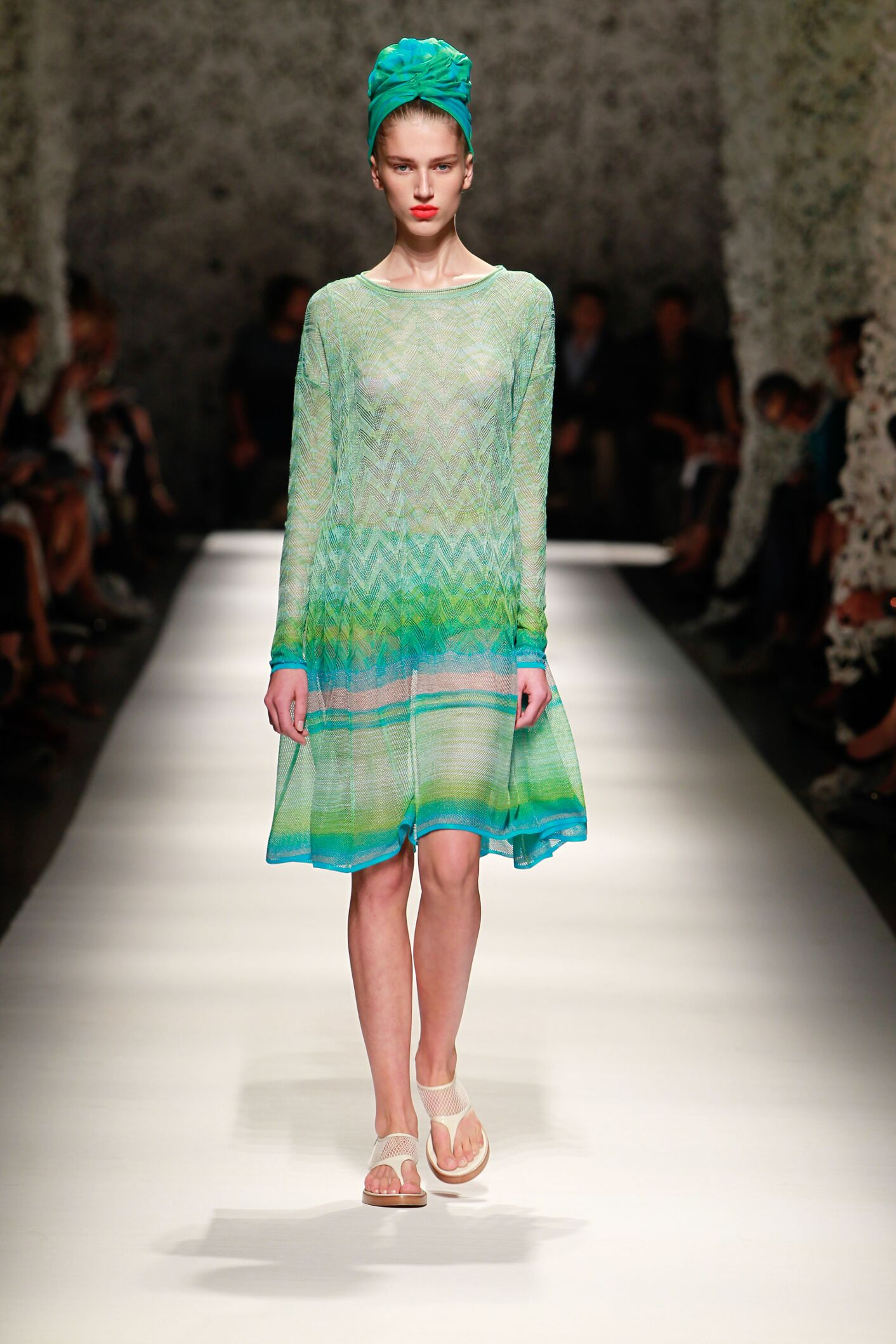 Fashion Model Missoni Catwalk