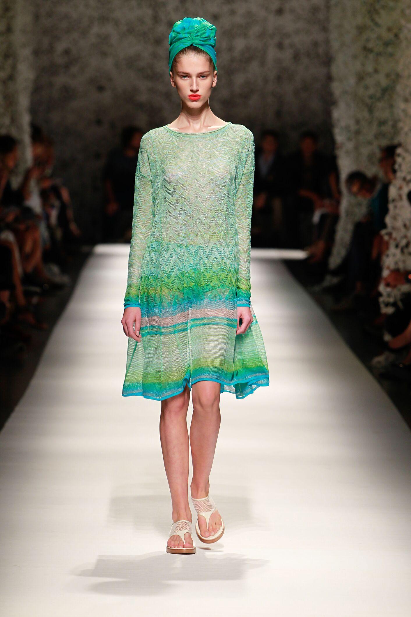 Fashion Model Missoni Catwalk