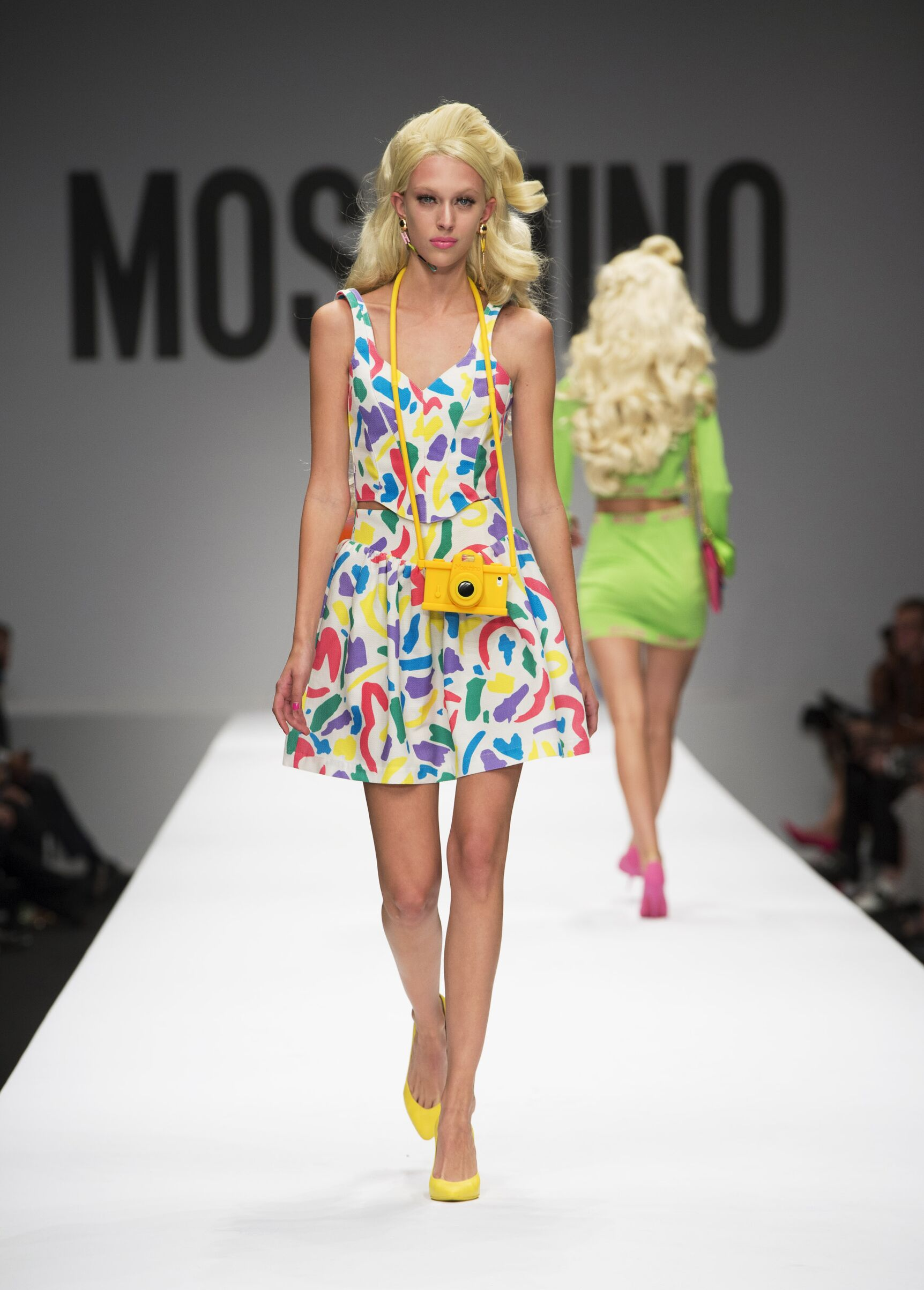Fashion Model Moschino Catwalk