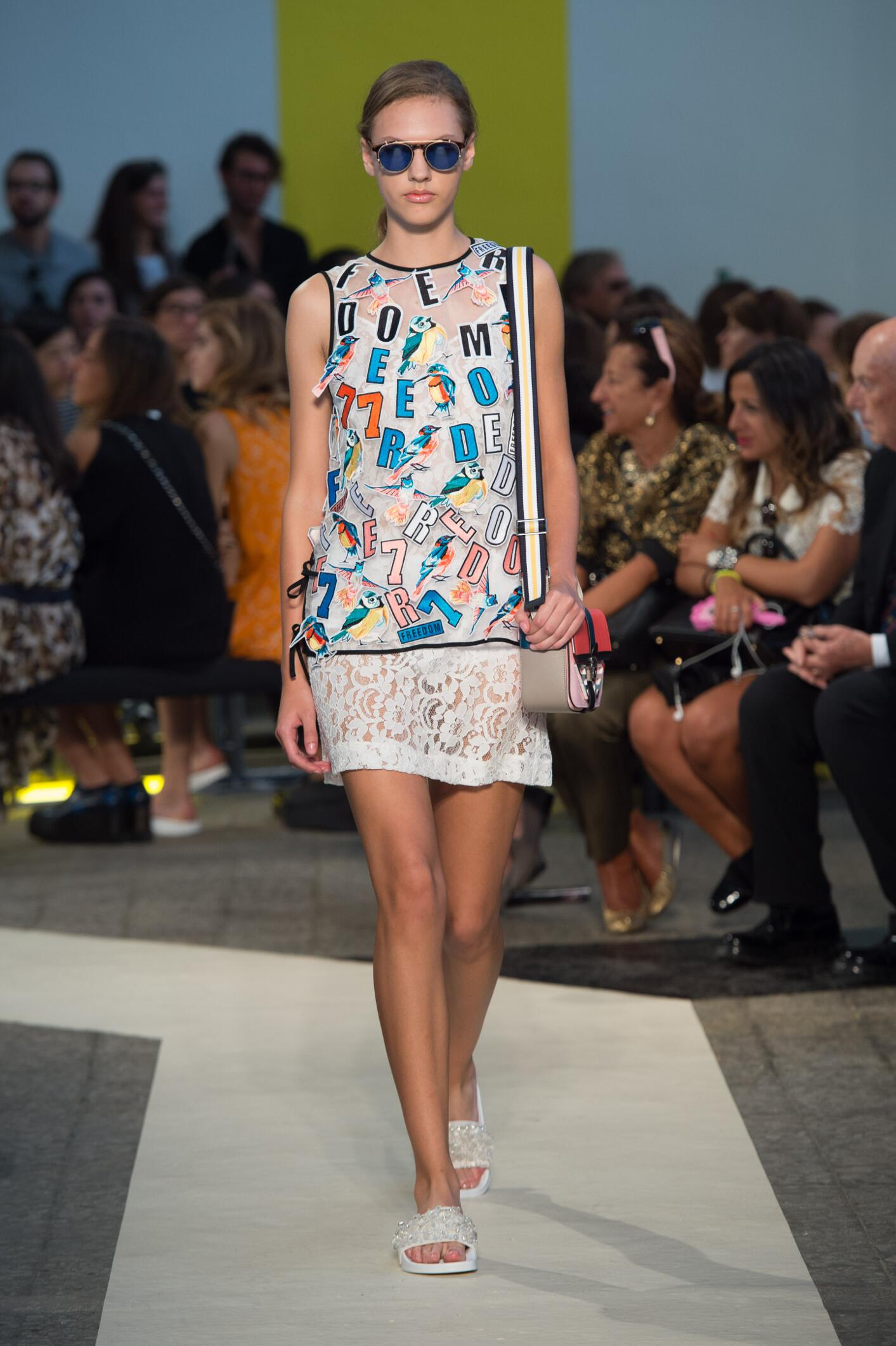 Fashion Model Msgm Catwalk