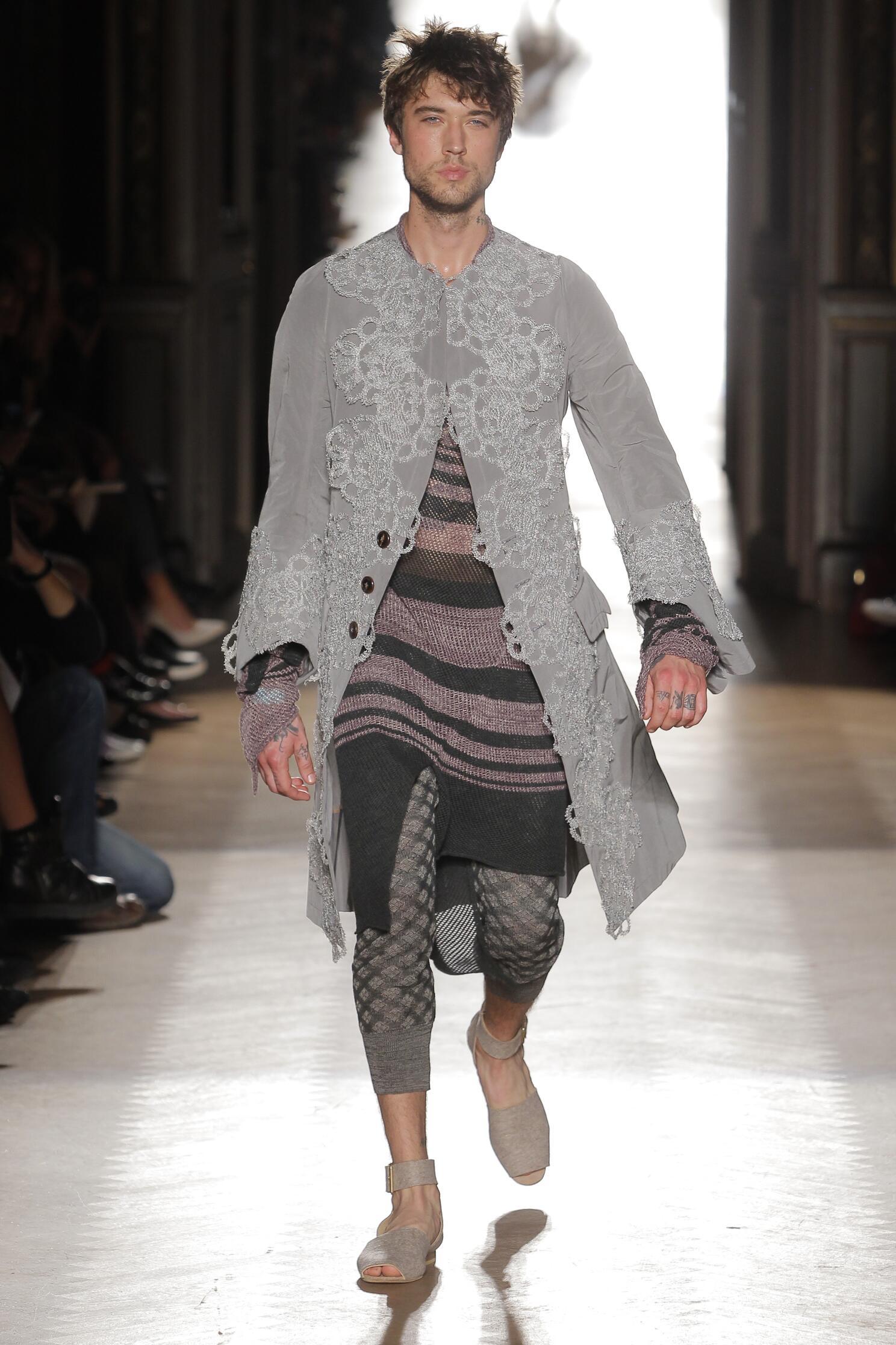 Fashion Model Vivienne Westwood Gold Label Catwalk