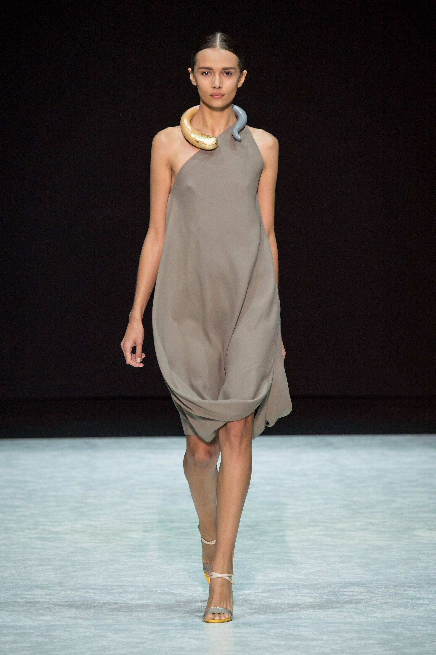Fashion Woman Model Angelos Bratis Catwalk