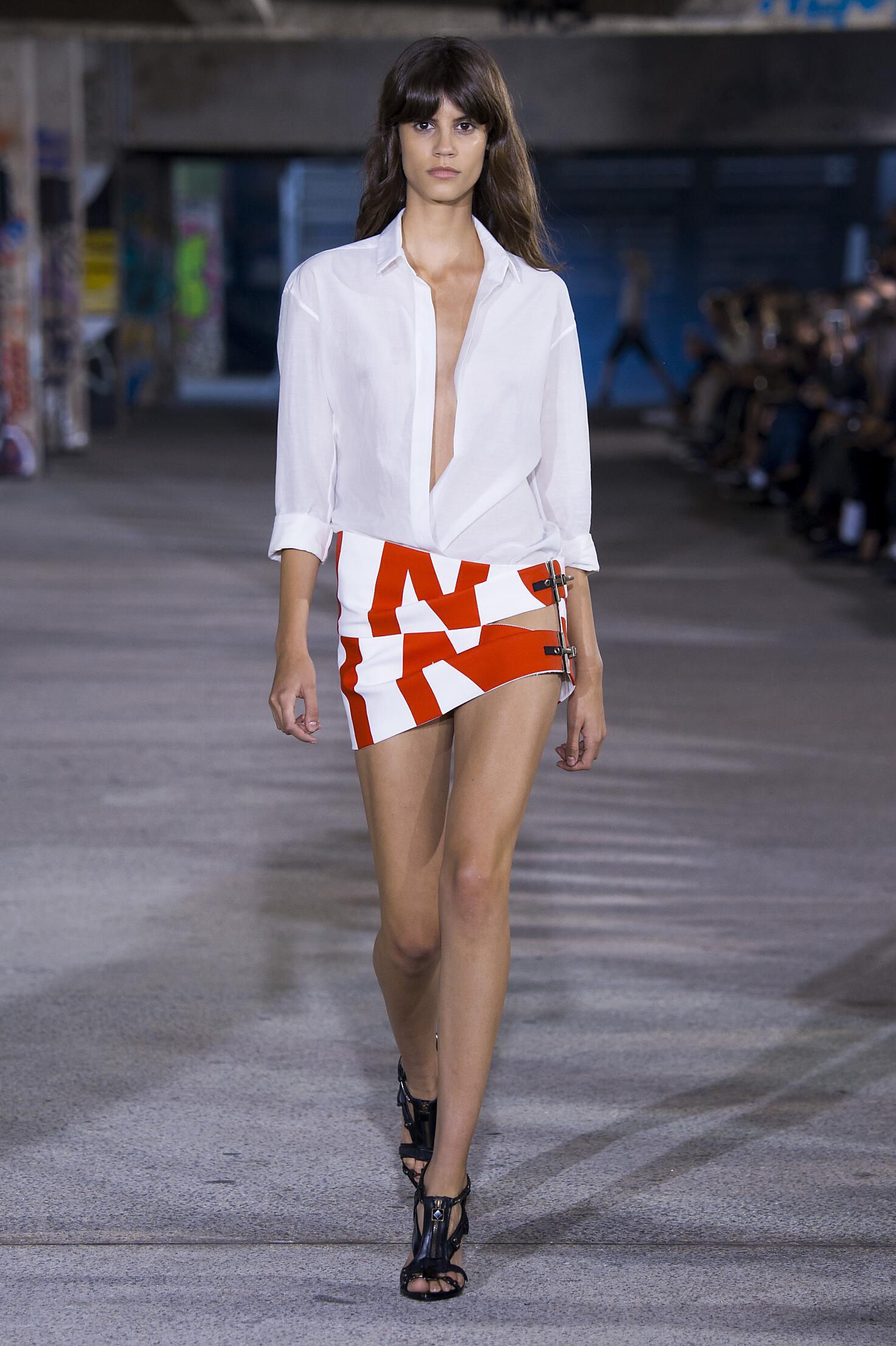 Fashion Woman Model Anthony Vaccarello Catwalk